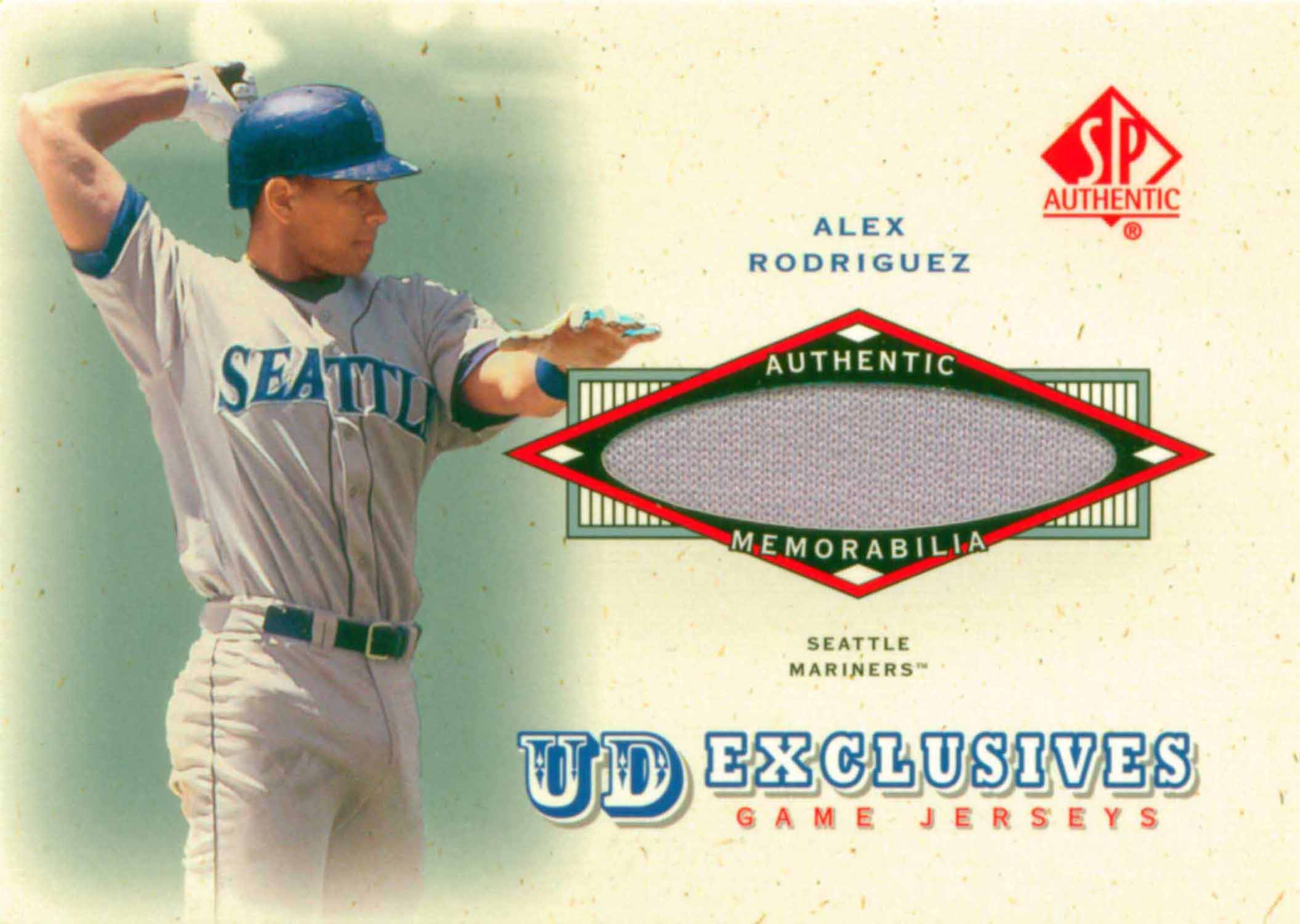 2001 SP Authentic UD Exclusives Game Jersey
