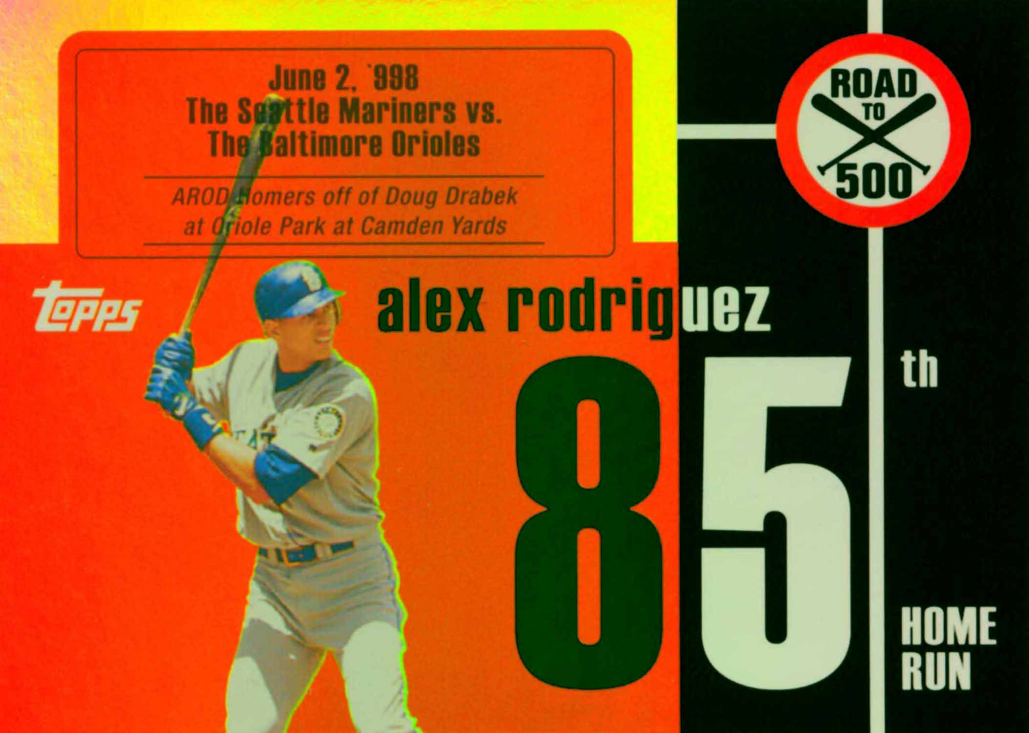 2007 Topps Alex Rodriguez Road to 500