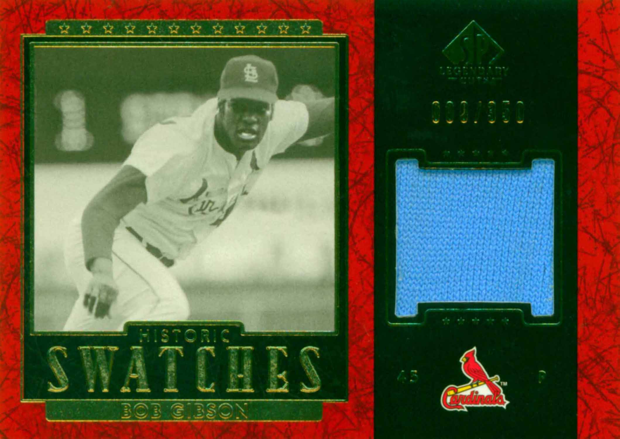 2003 SP Legendary Cuts Historic Swatches Jersey