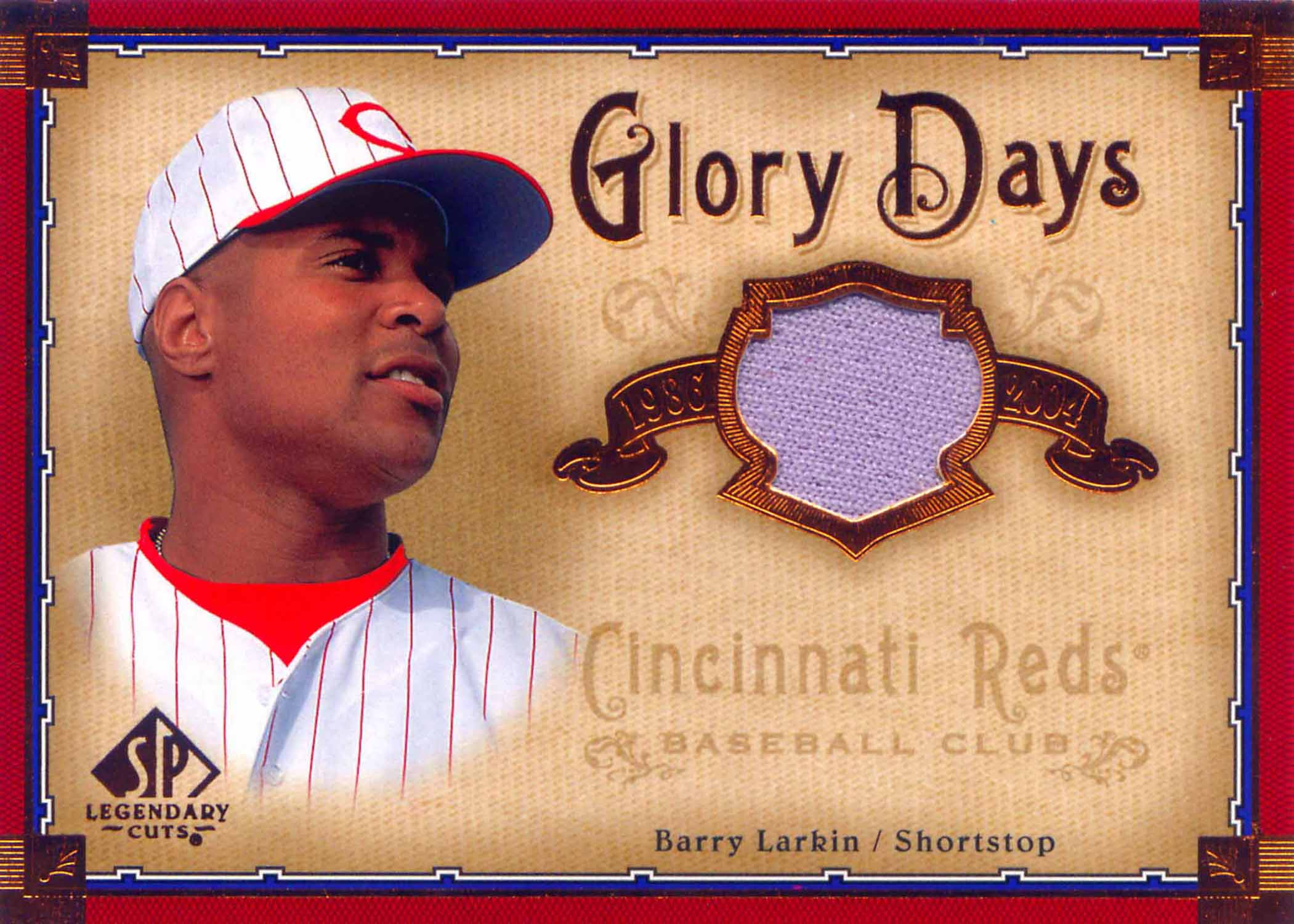 2005 SP Legendary Cuts Glory Days Material Jersey