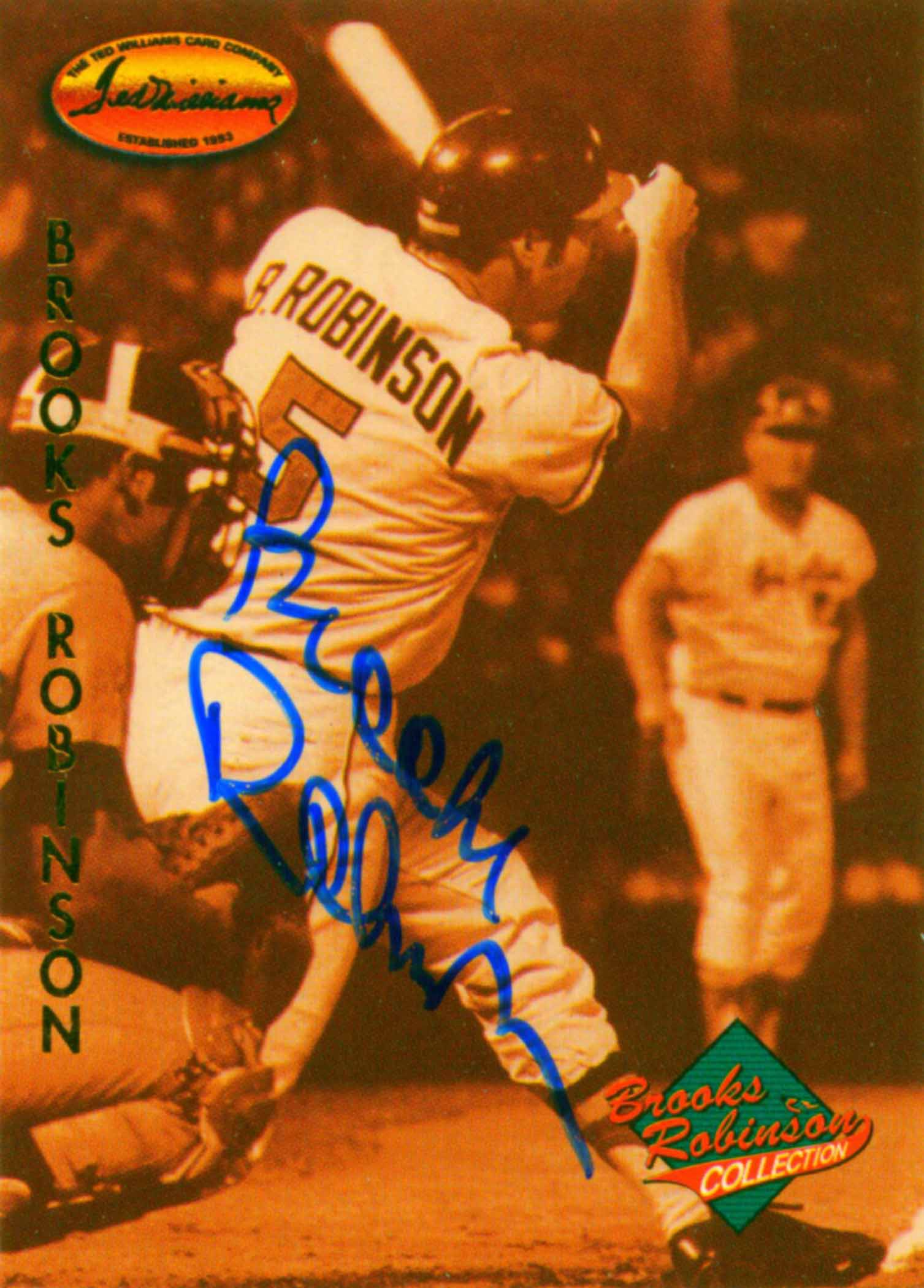 1993 Ted Williams Brooks Robinson Autographs