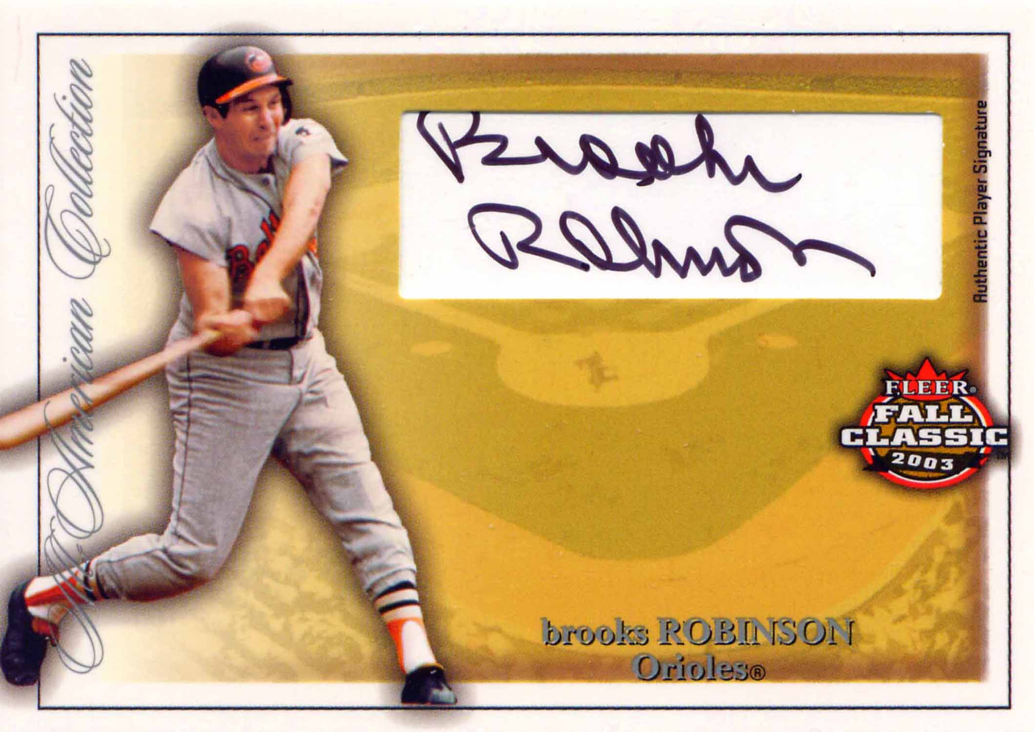 2003 Fleer Fall Classics All-American Autographs
