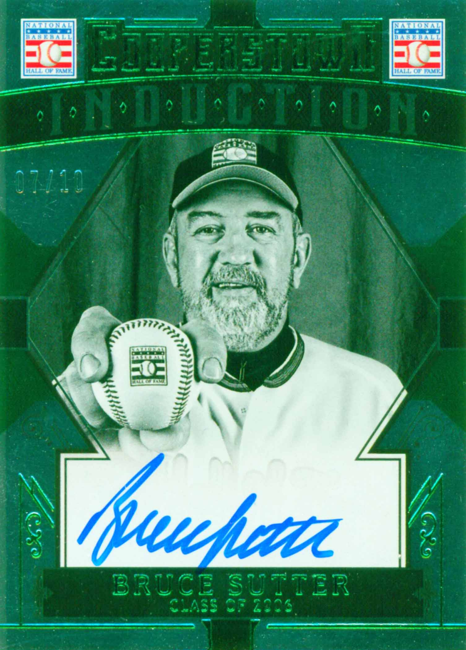 2015 Panini Cooperstown Induction Signatures Green