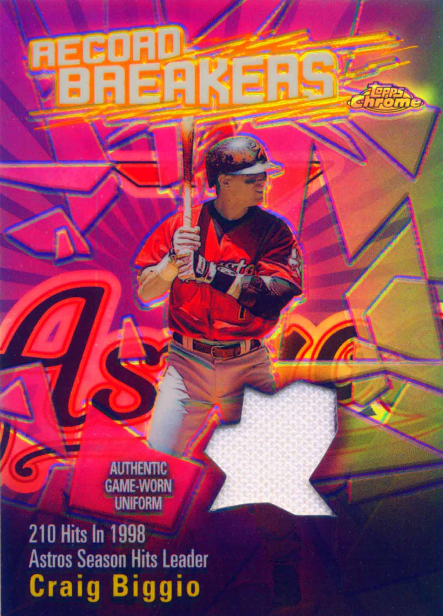 2003 Topps Chrome Record Breakers Relics Uniform