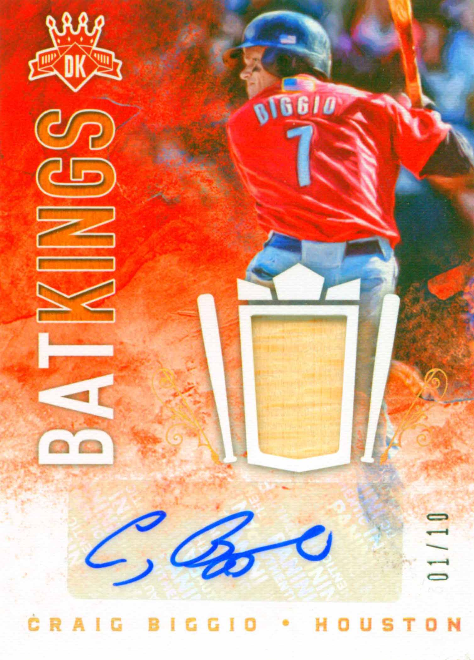 2017 Diamond Kings Bat Kings Signatures Holo Gold