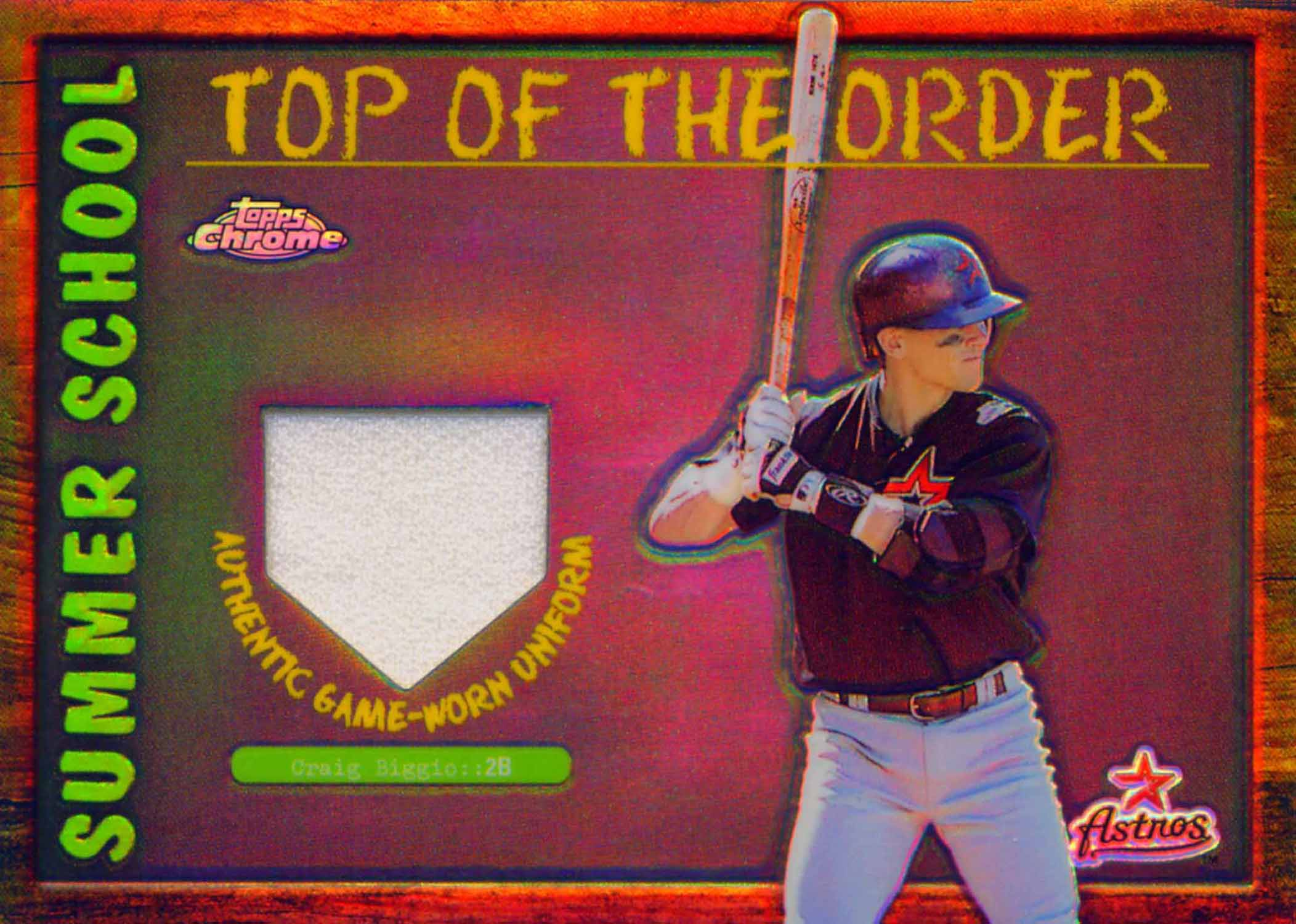 2002 Topps Chrome Summer School Top of the Order Relics Uniform