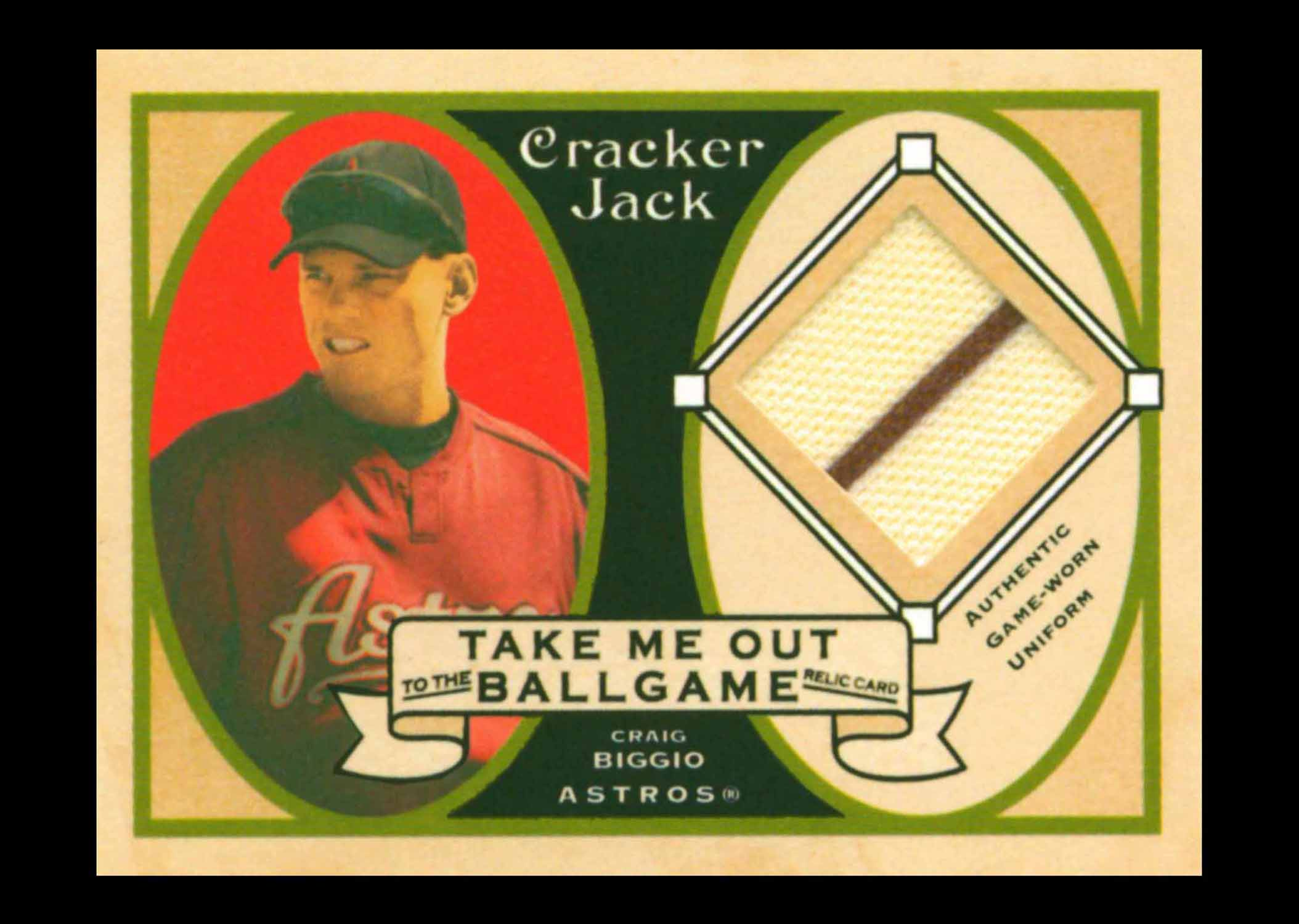 2005 Topps Cracker Jack Take Me Out to the Ballgame Mini Relics Uniform