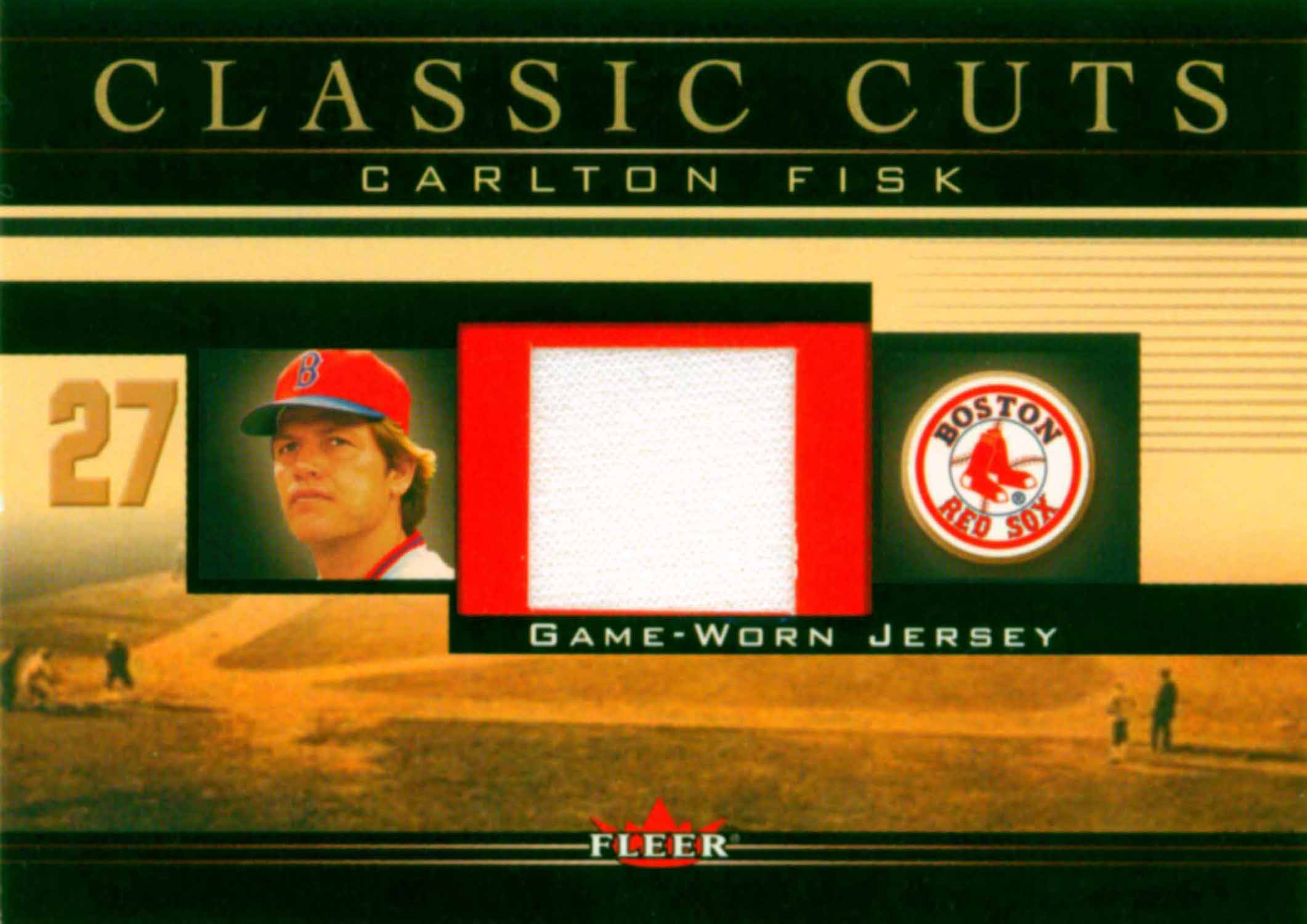 2002 Fleer Classic Cuts Game Used Jersey