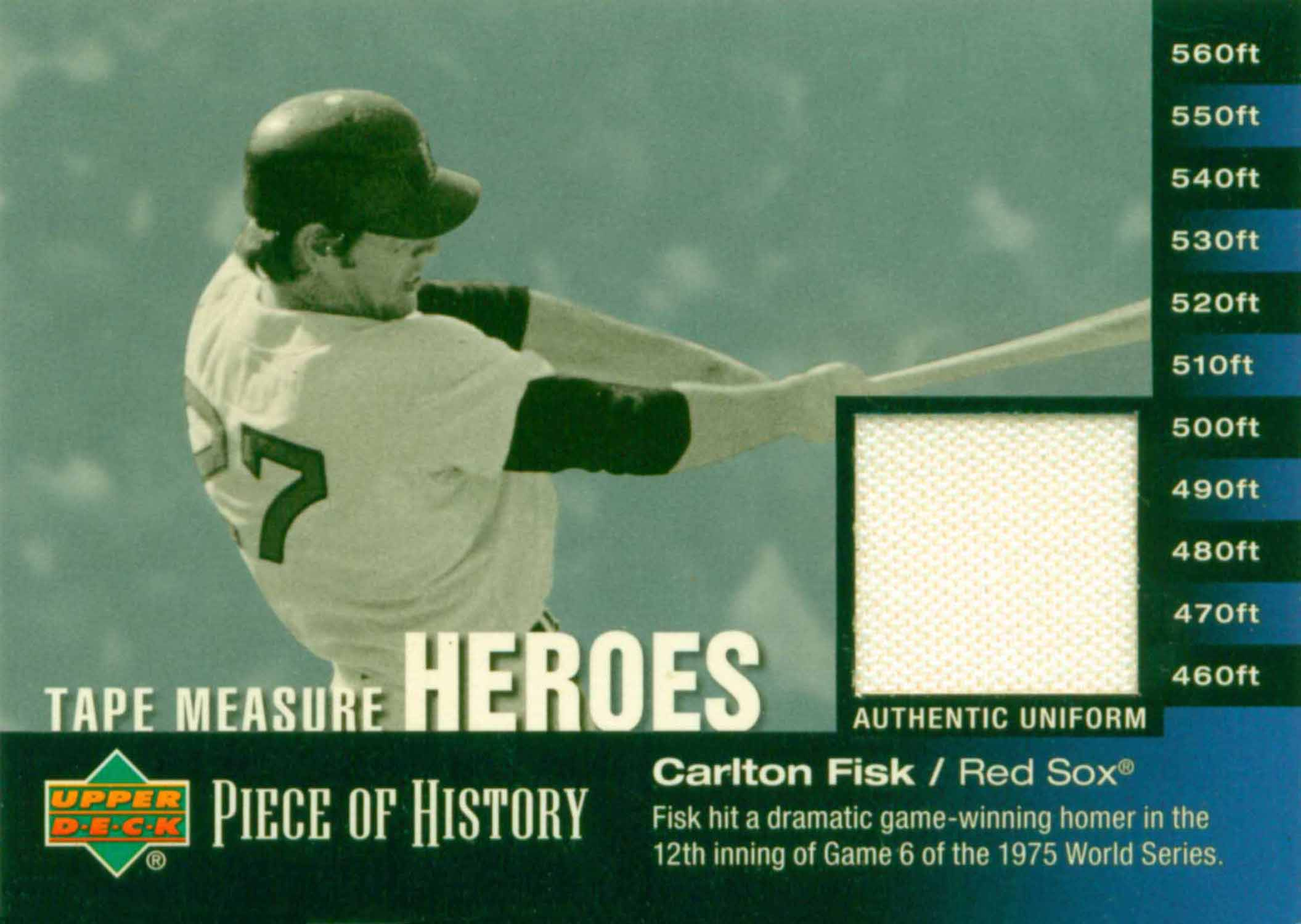2002 UD Piece of History Tape Measure Heroes Jersey