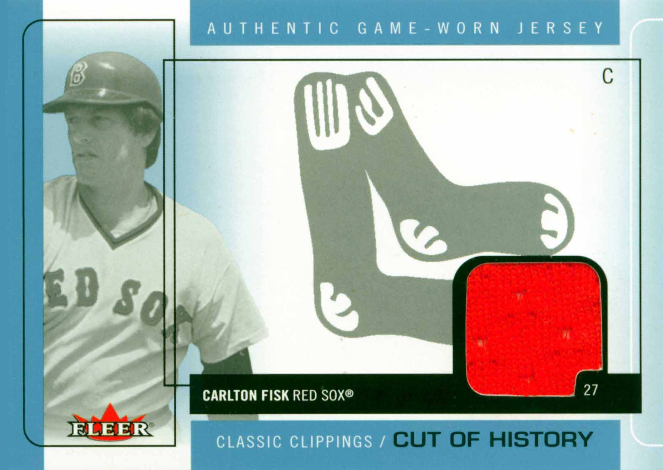 2005 Classic Clippings Cut of History Single Jersey Blue