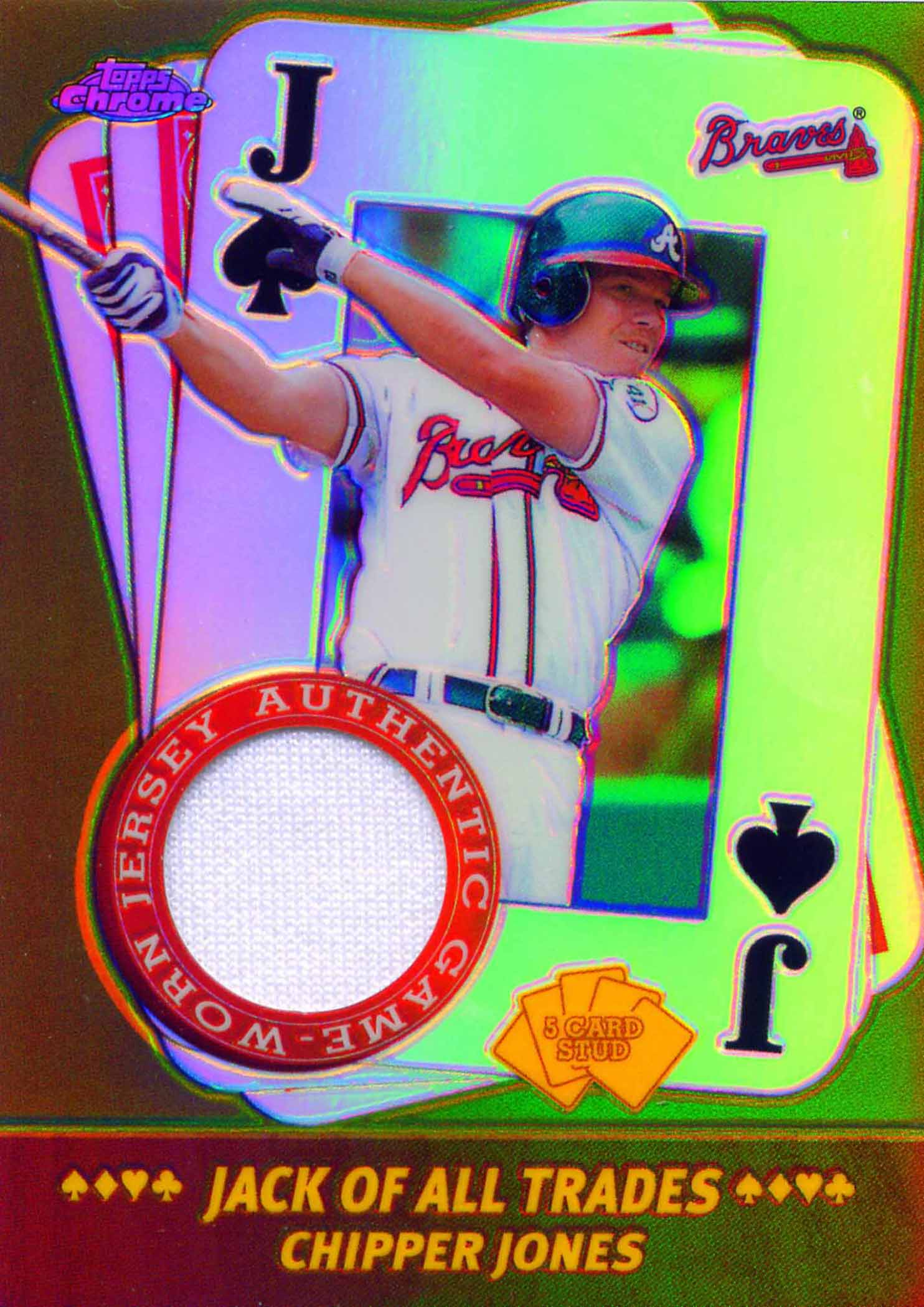 2002 Topps Chrome 5-Card Stud Jack of all Trades Relics Jersey