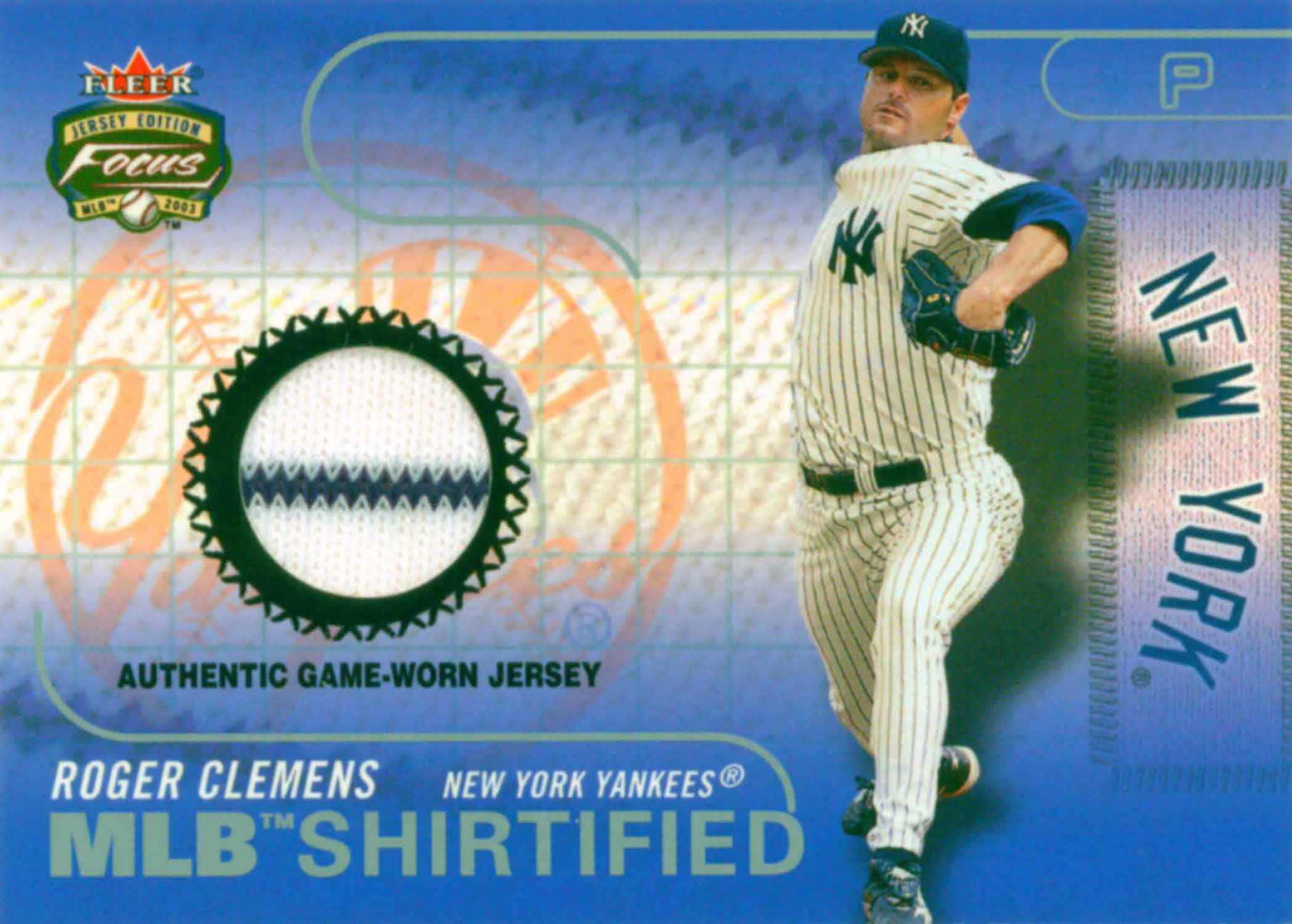 2003 Fleer Focus JE MLB Shirtified Game Jersey