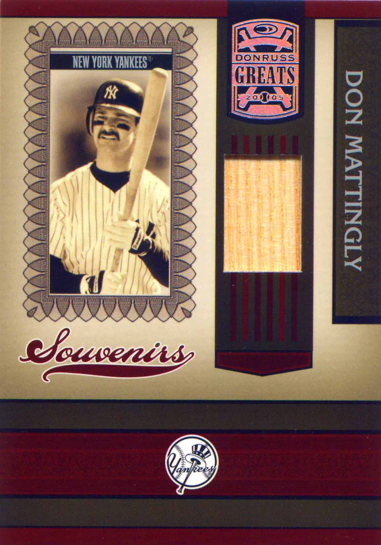 2005 Donruss Greats Souvenirs Material Bat