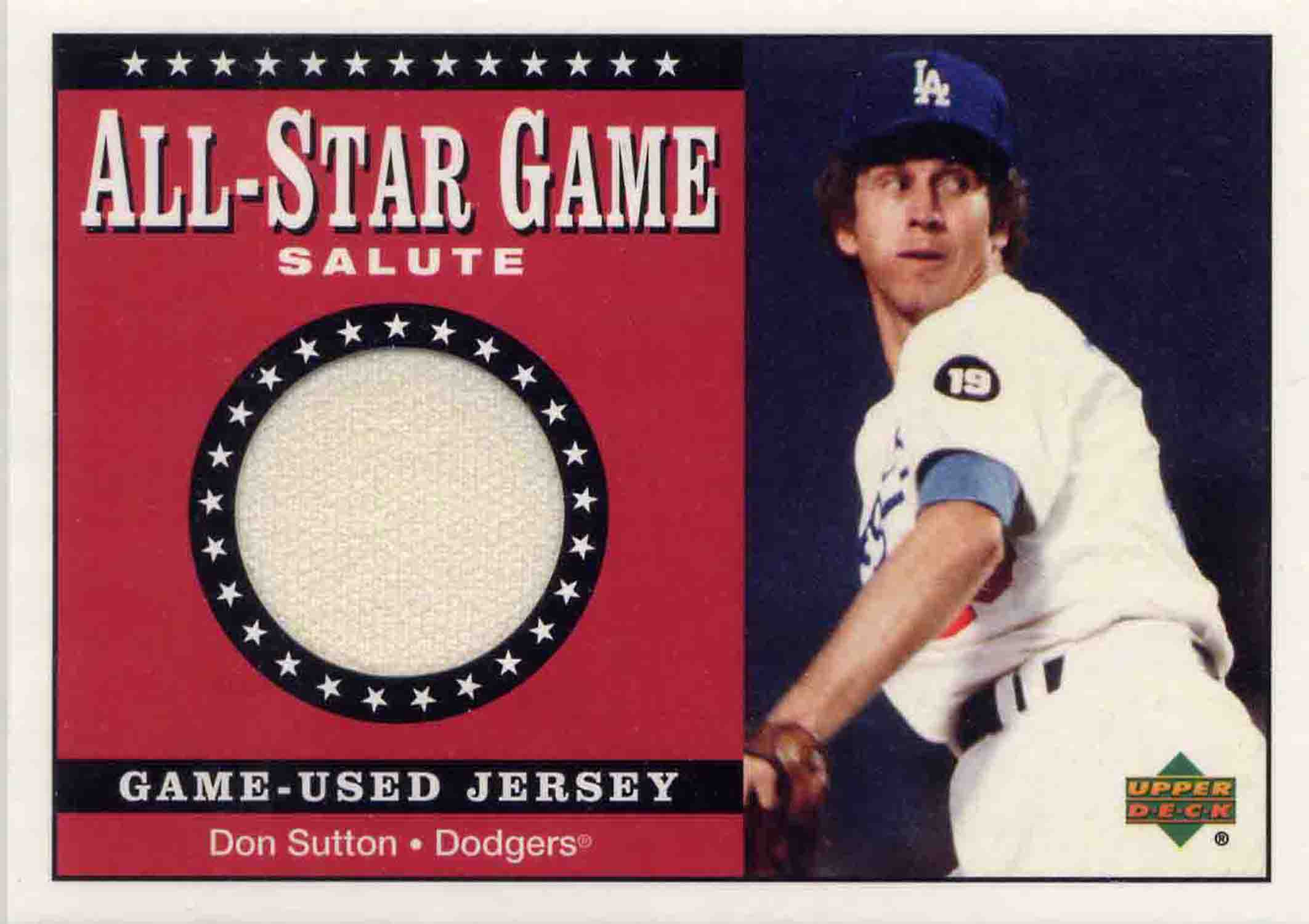 2002 Upper Deck All-Star Salute Game Jersey
