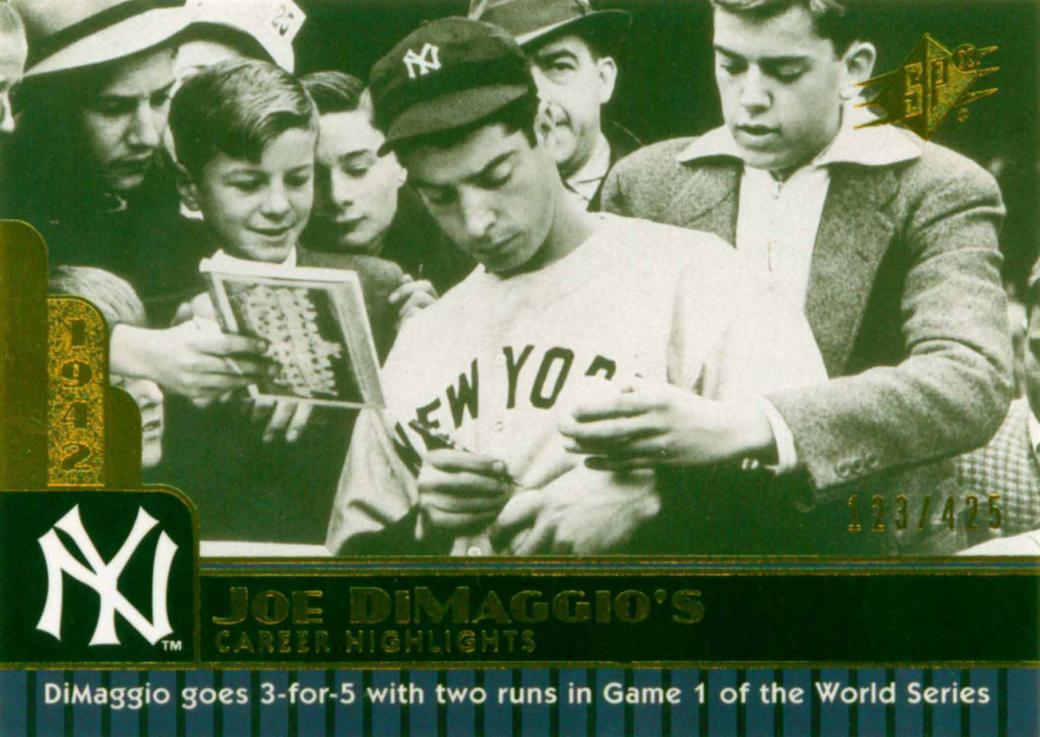 2009 SPx Joe DiMaggio Career Highlights