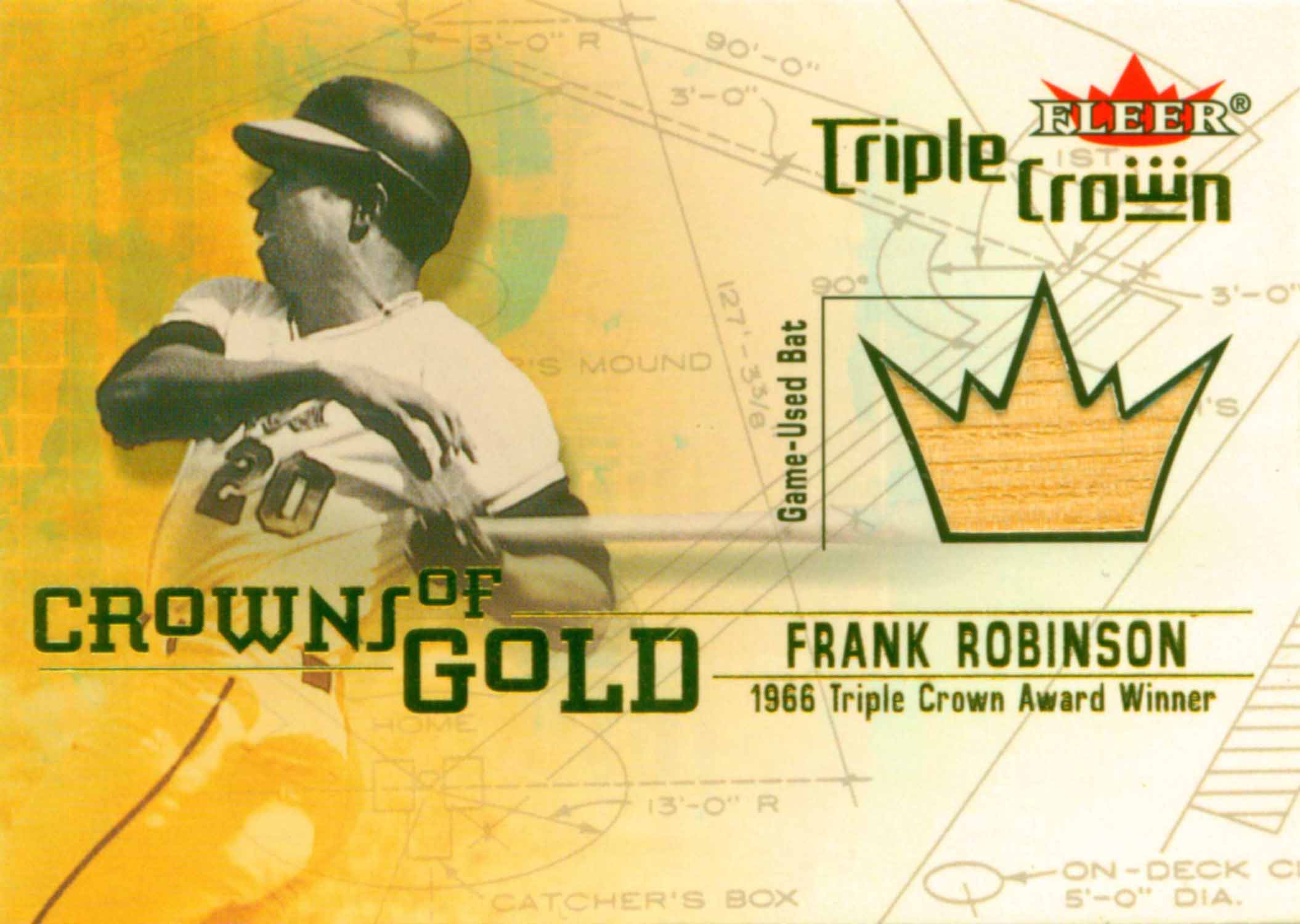 2001 Fleer Triple Crown Crowns of Gold Memorabilia Bat