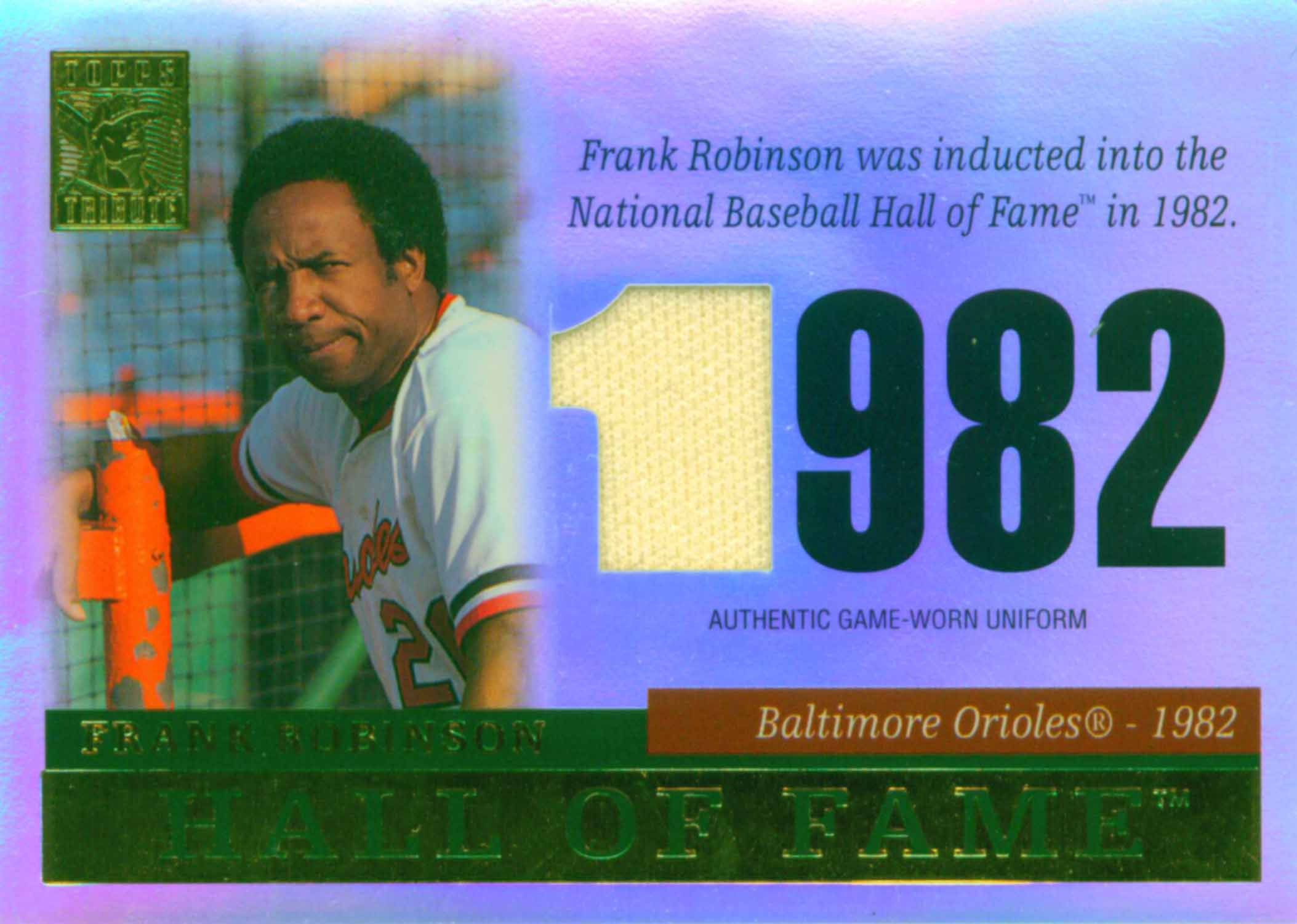 2004 Topps Tribute Hall of Fame Relics Uniform