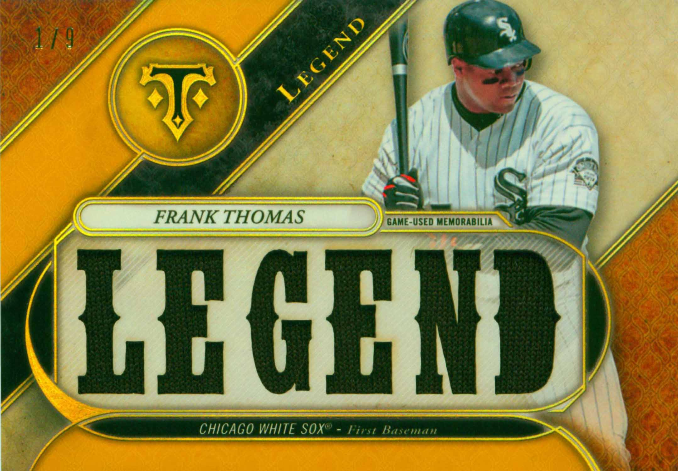 2017 Topps Triple Threads Legend Relics Gold