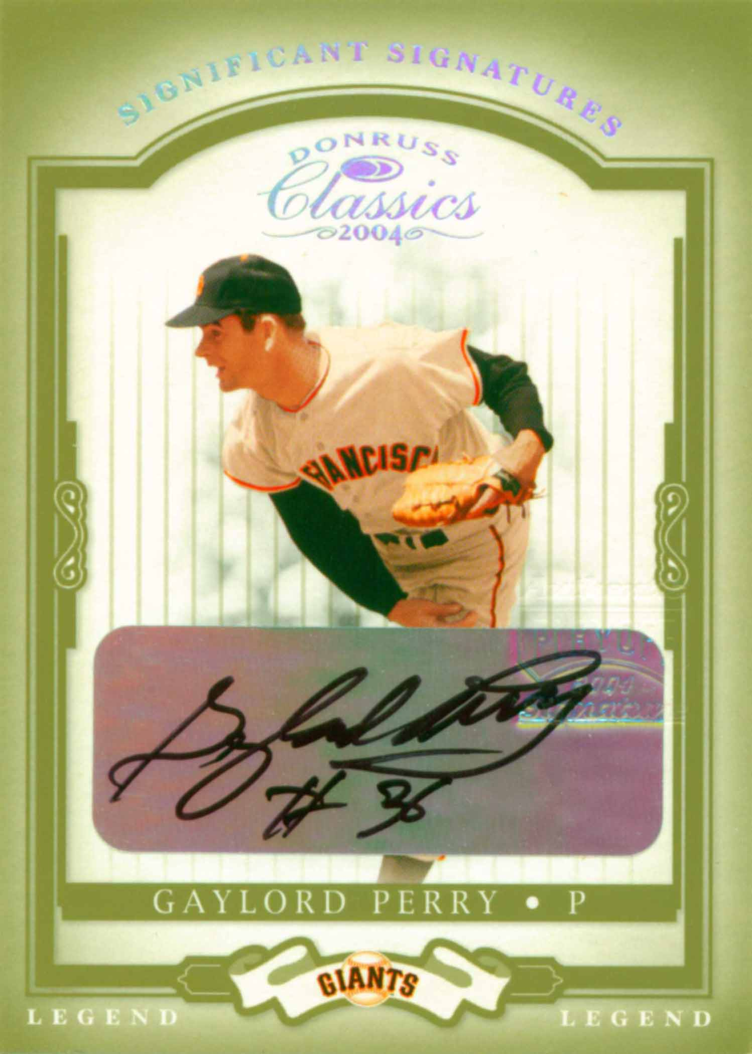2004 Donruss Classics Legend Significant Signatures Green