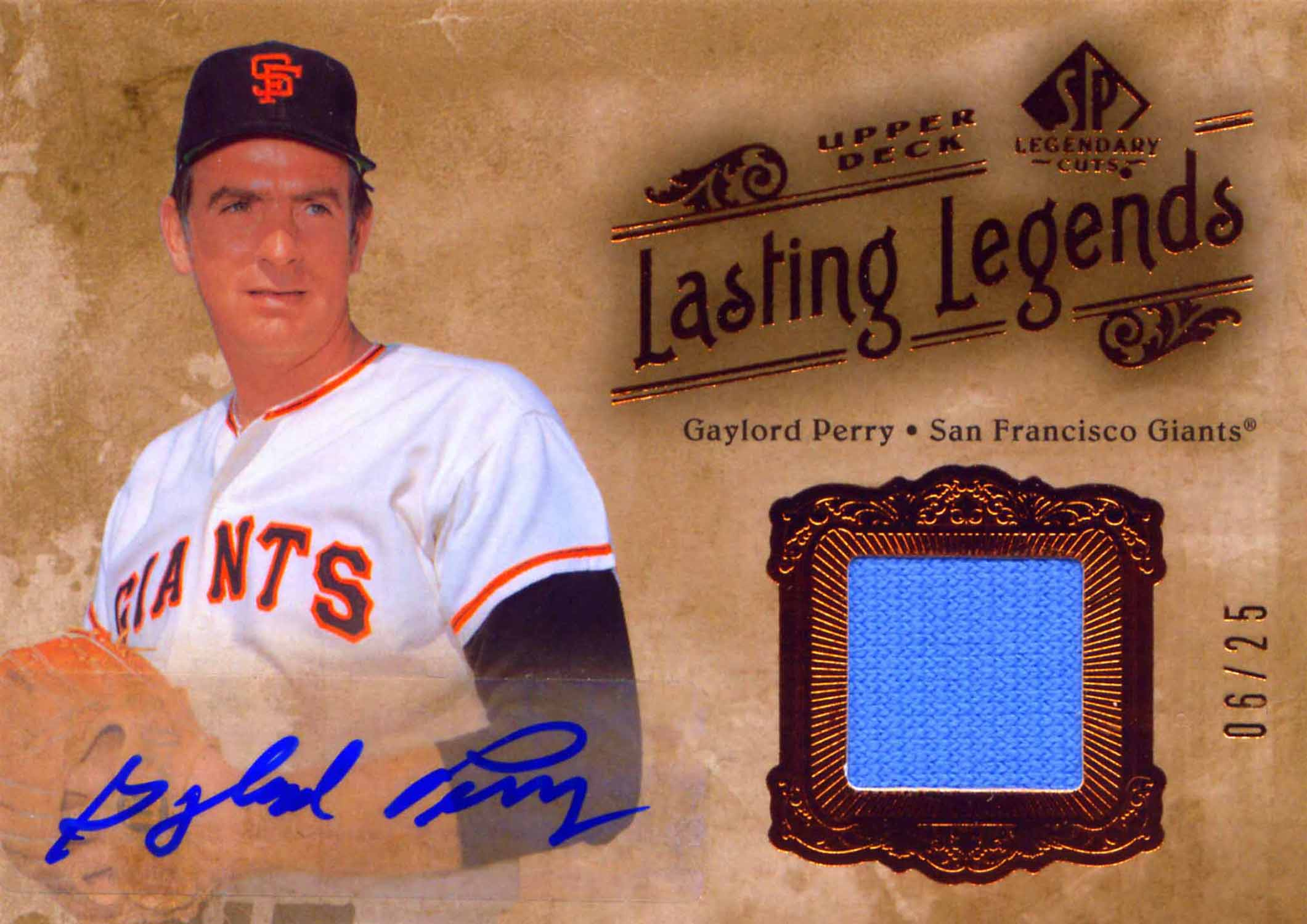 2005 SP Legendary Cuts Lasting Legends Autograph Material Jersey