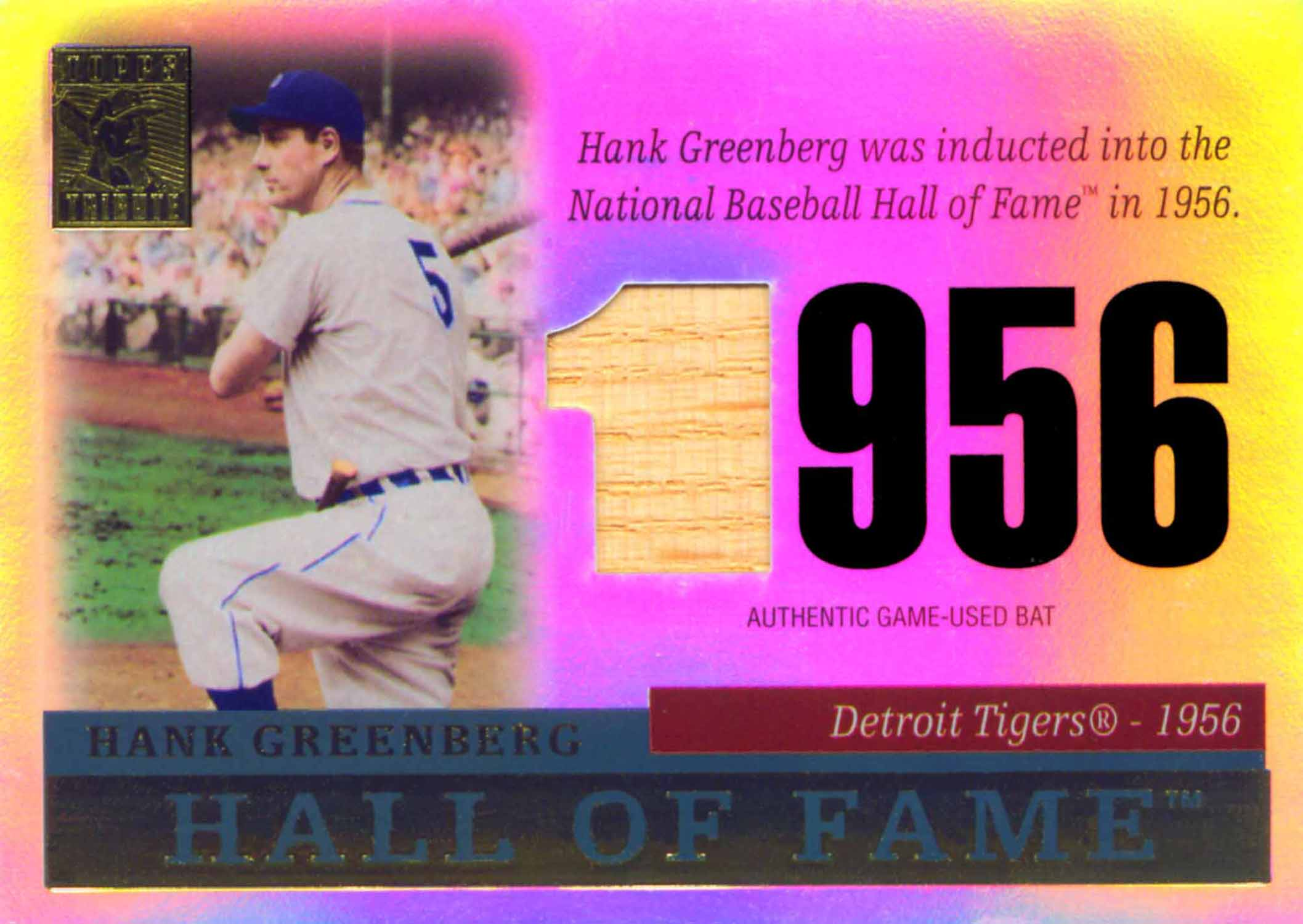 2004 Topps Tribute Hall of Fame Relics Bat