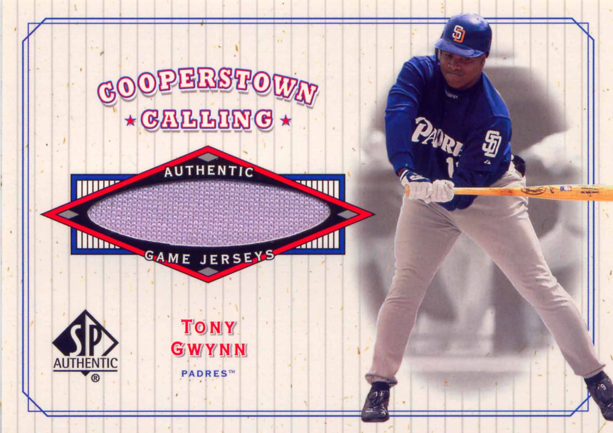 2001 SP Authentic Cooperstown Calling Game Jersey