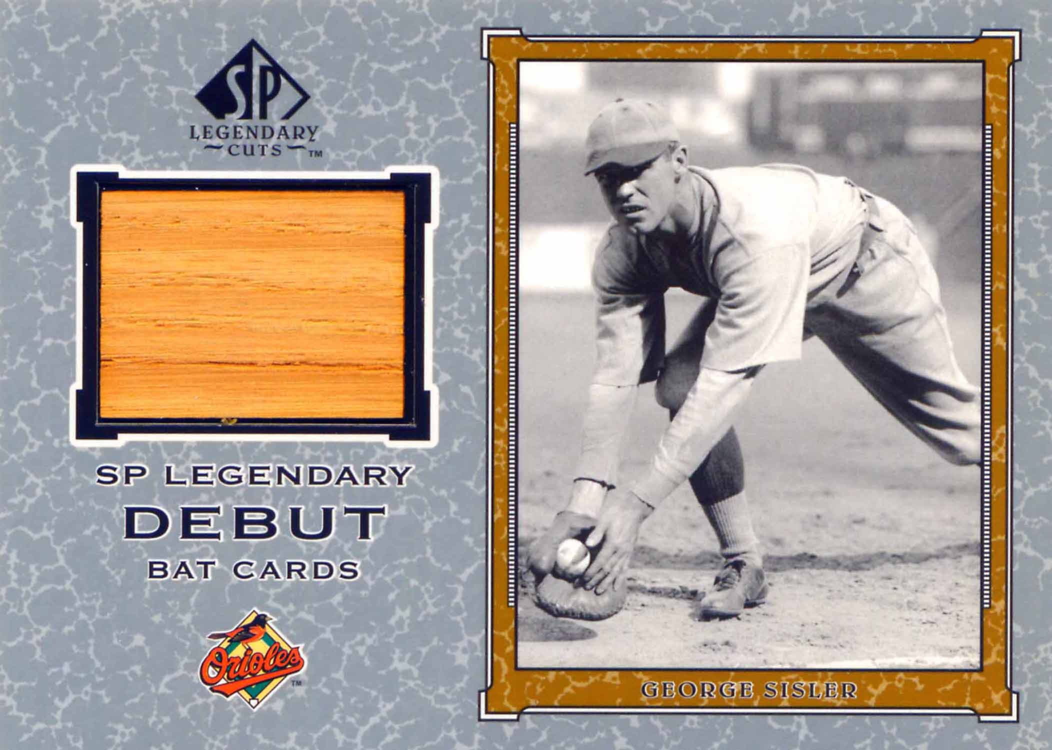2001 SP Legendary Cuts Debut Game Bat