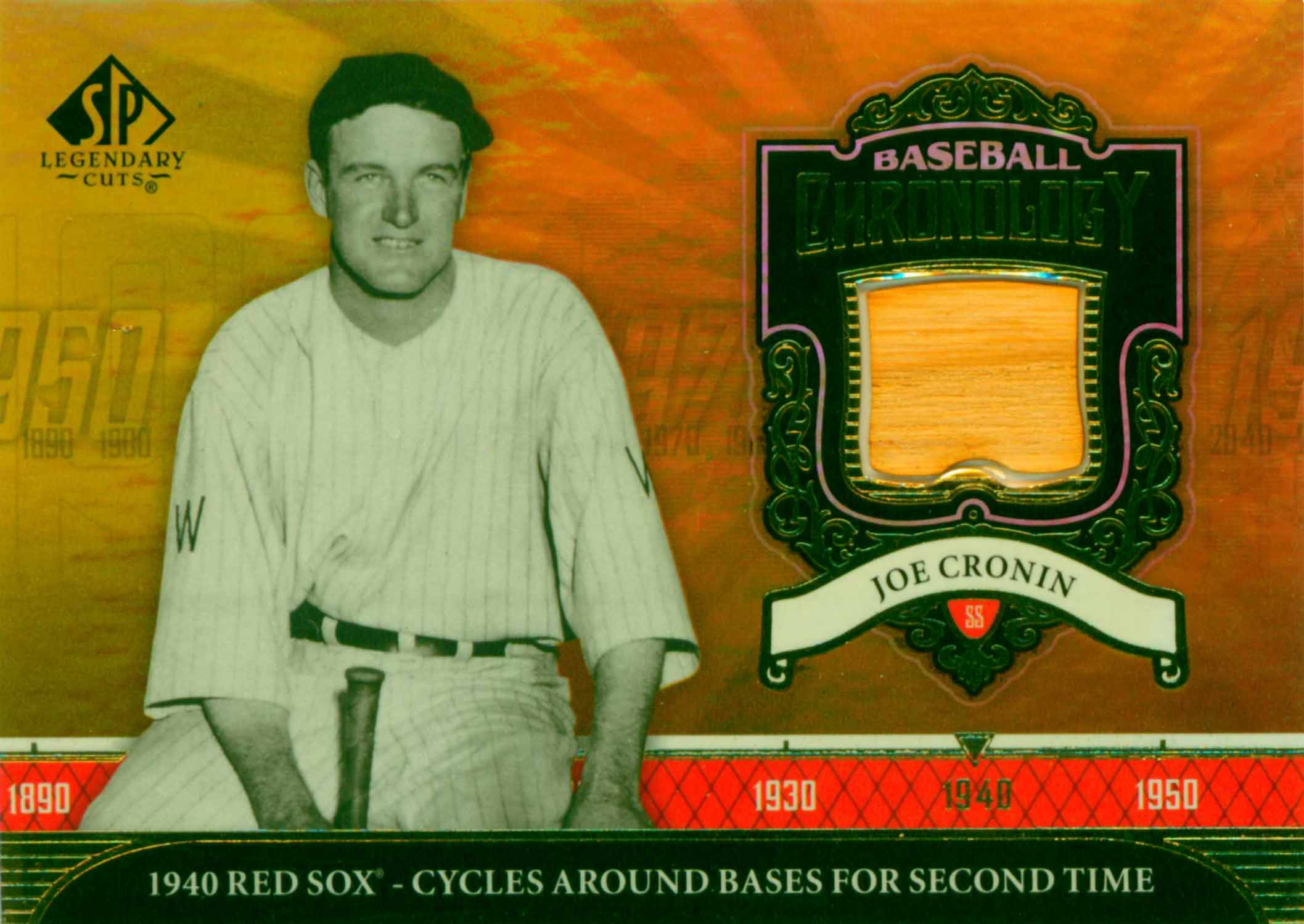 2006 SP Legendary Cuts Baseball Chronology Materials Bat