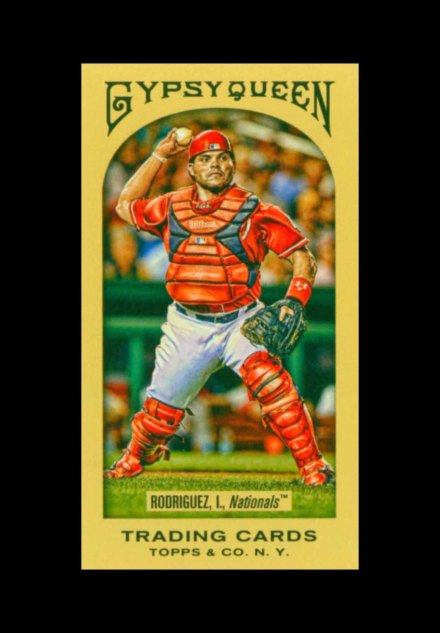 2011 Topps Gypsy Queen Mini Red Gypsy Queen Back