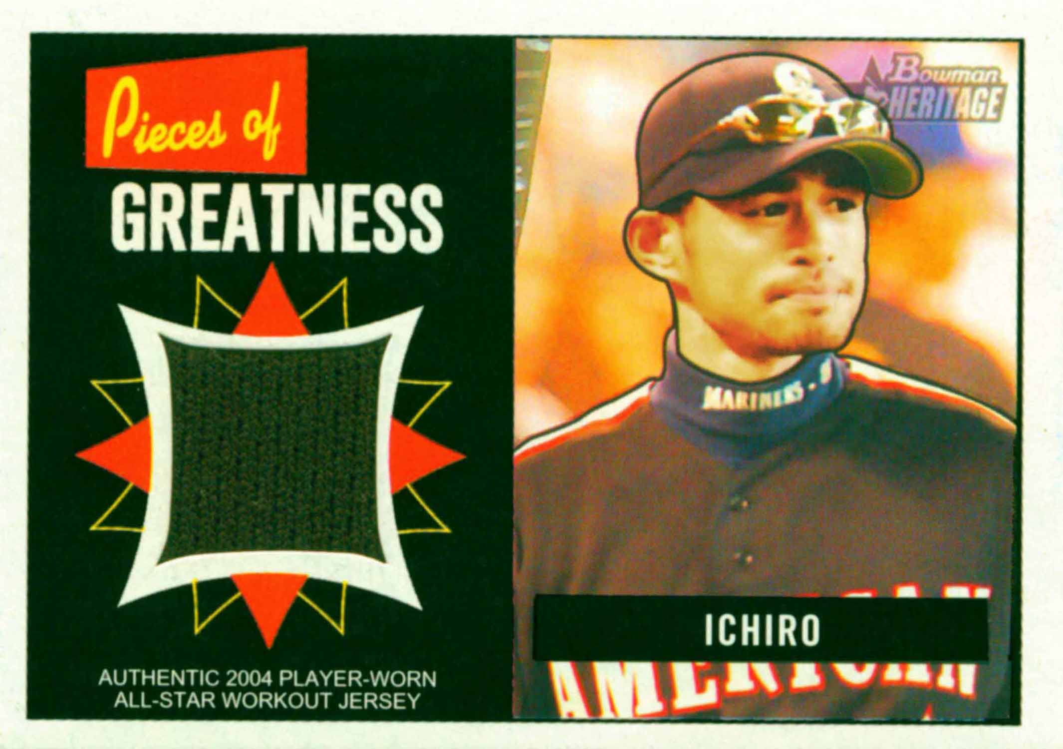 2005 Bowman Heritage Pieces of Greatness Relics Jersey
