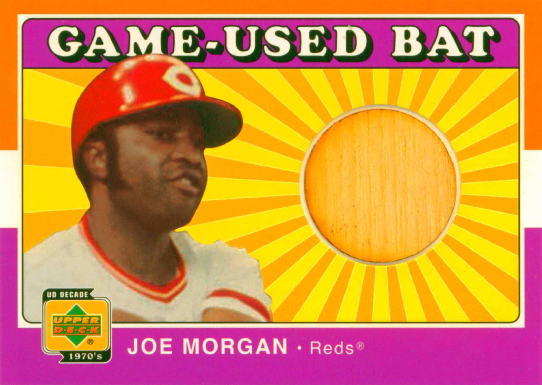 2001 Upper Deck Decade 1970's Game Bat