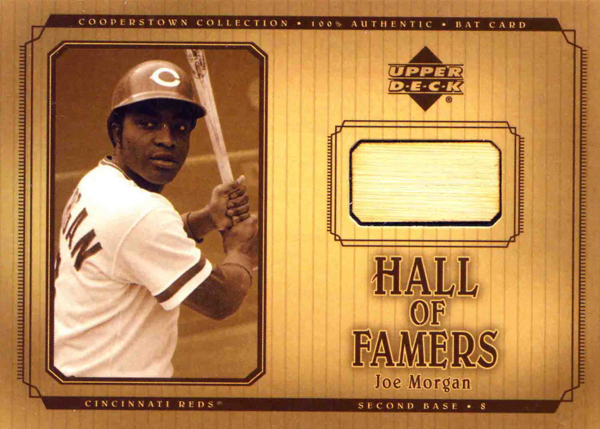 2001 Upper Deck Hall of Famers Game Bat