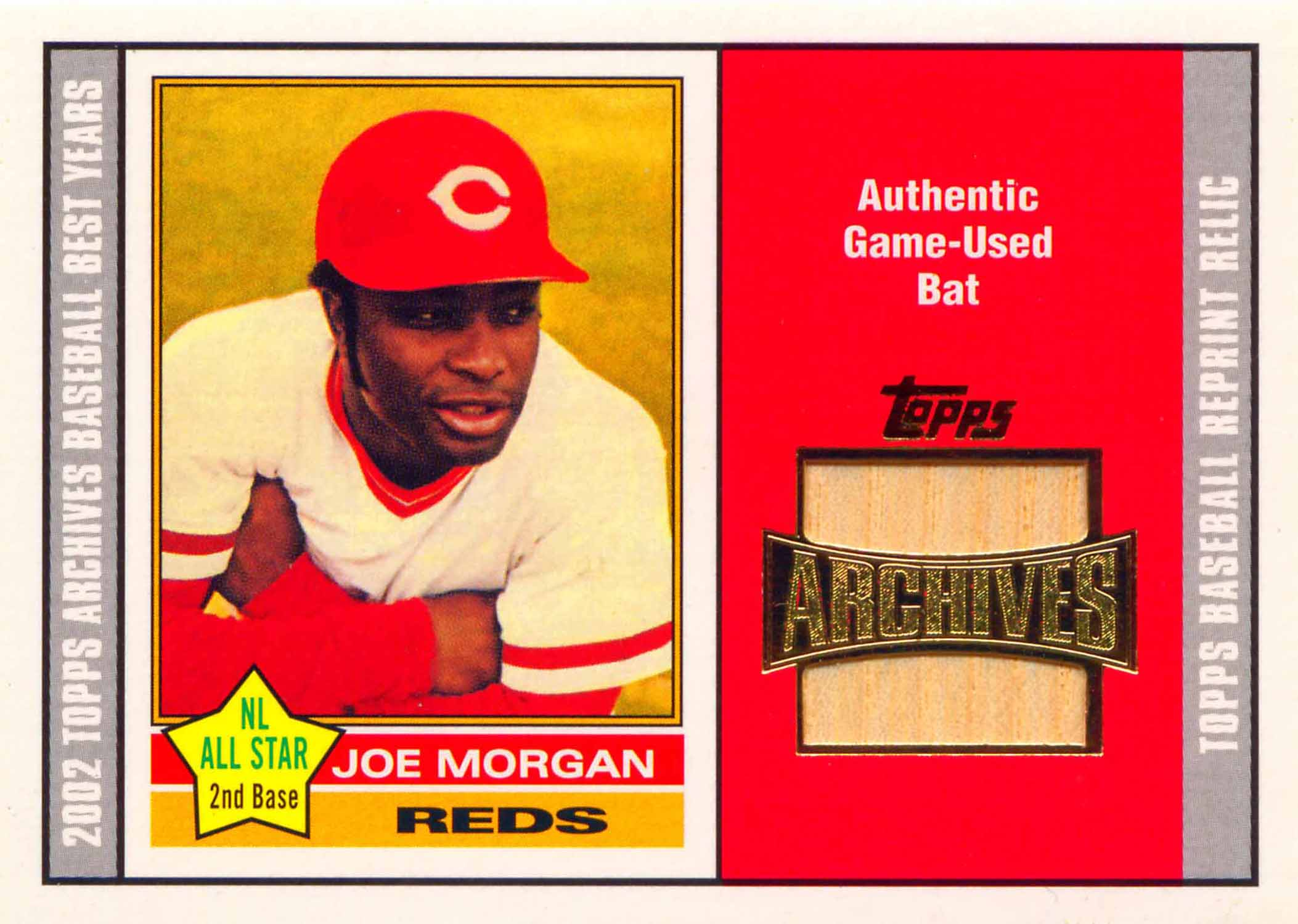 2002 Topps Archives Bat Relics