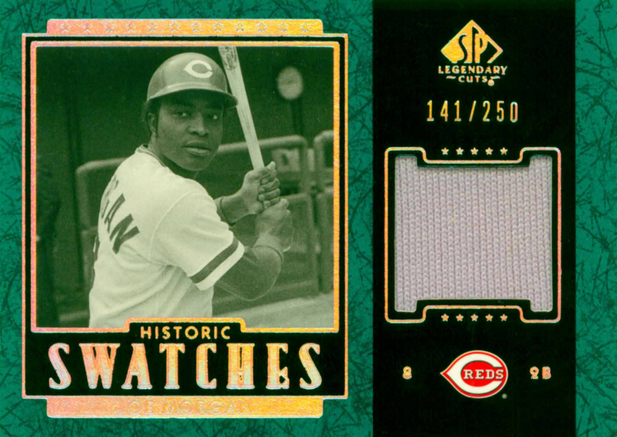 2003 SP Legendary Cuts Historic Swatches Green Jersey
