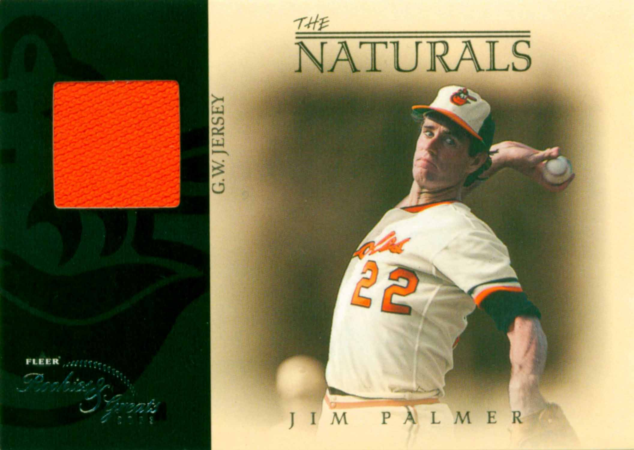 2003 Fleer Rookies and Greats Naturals Game Used Jersey