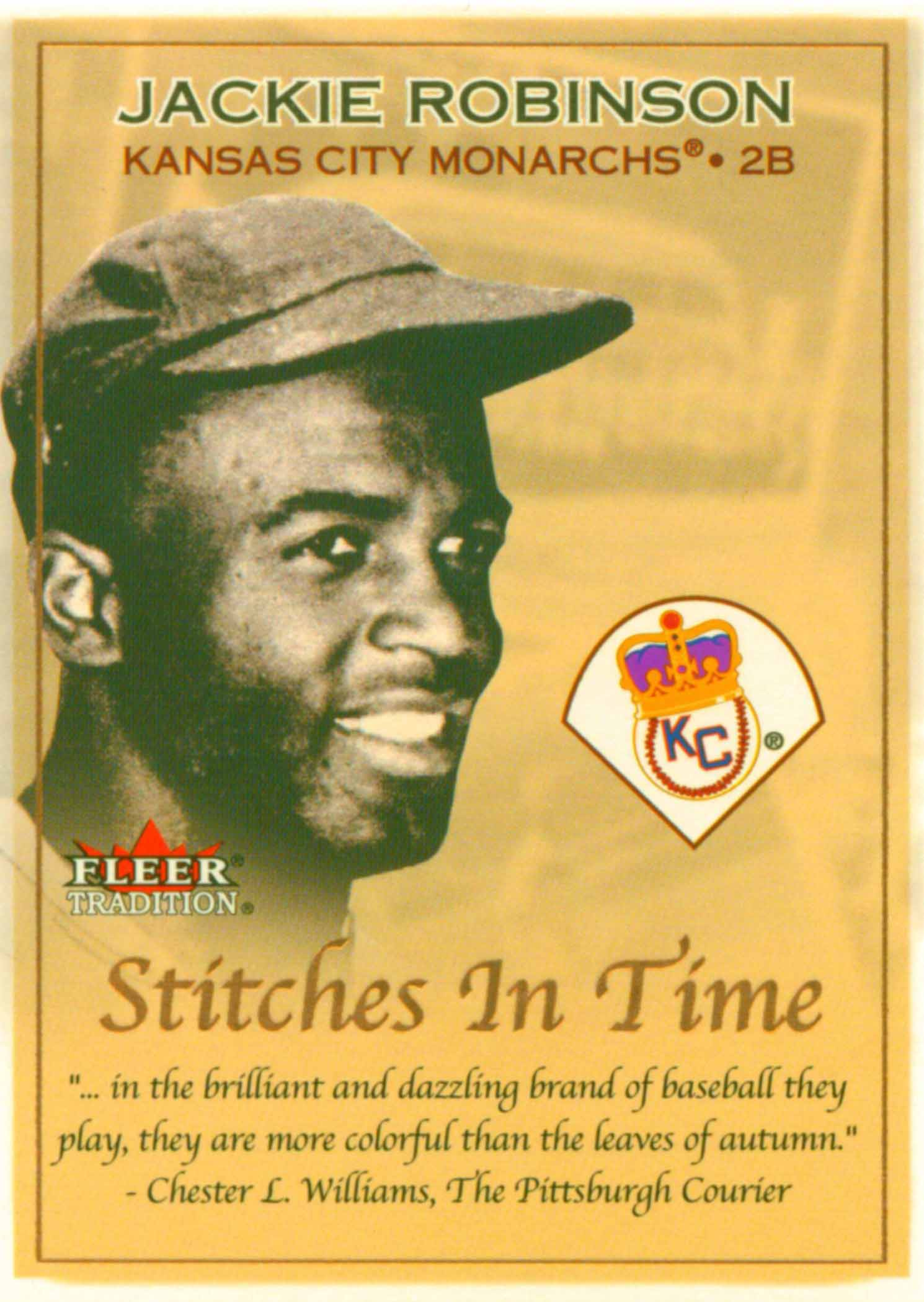 2001 Fleer Tradition Stitches in Time