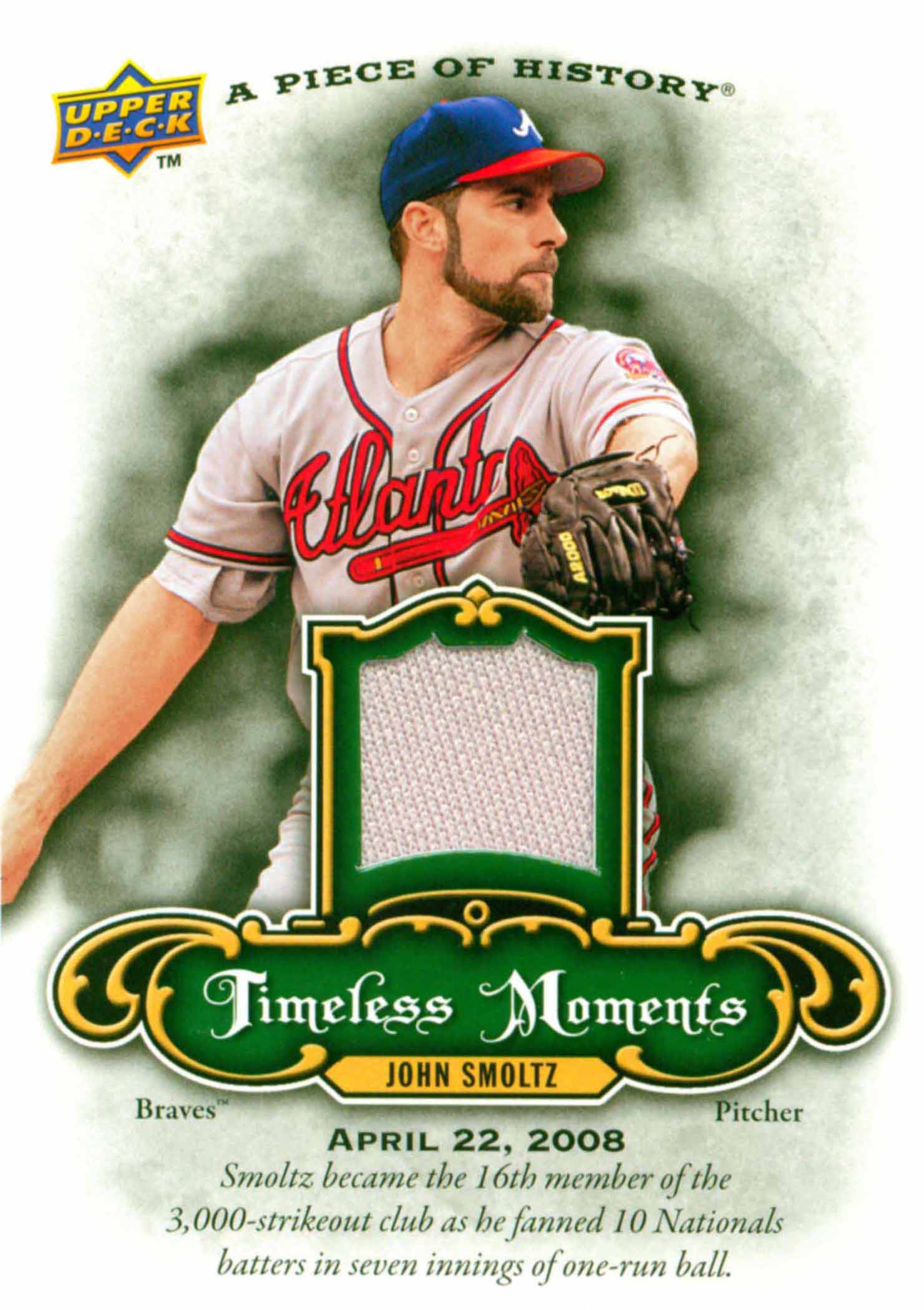 2009 UD A Piece of History Timeless Moments Jersey