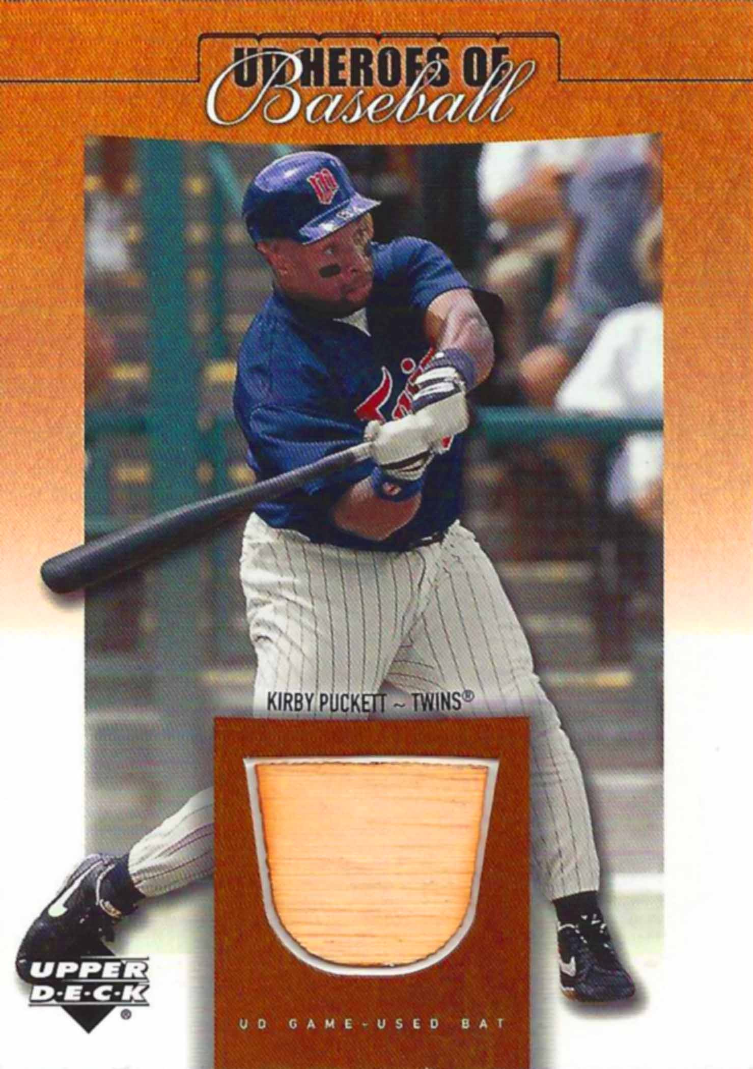 2001 Upper Deck Prospect Premieres Heroes of Baseball Game Bat
