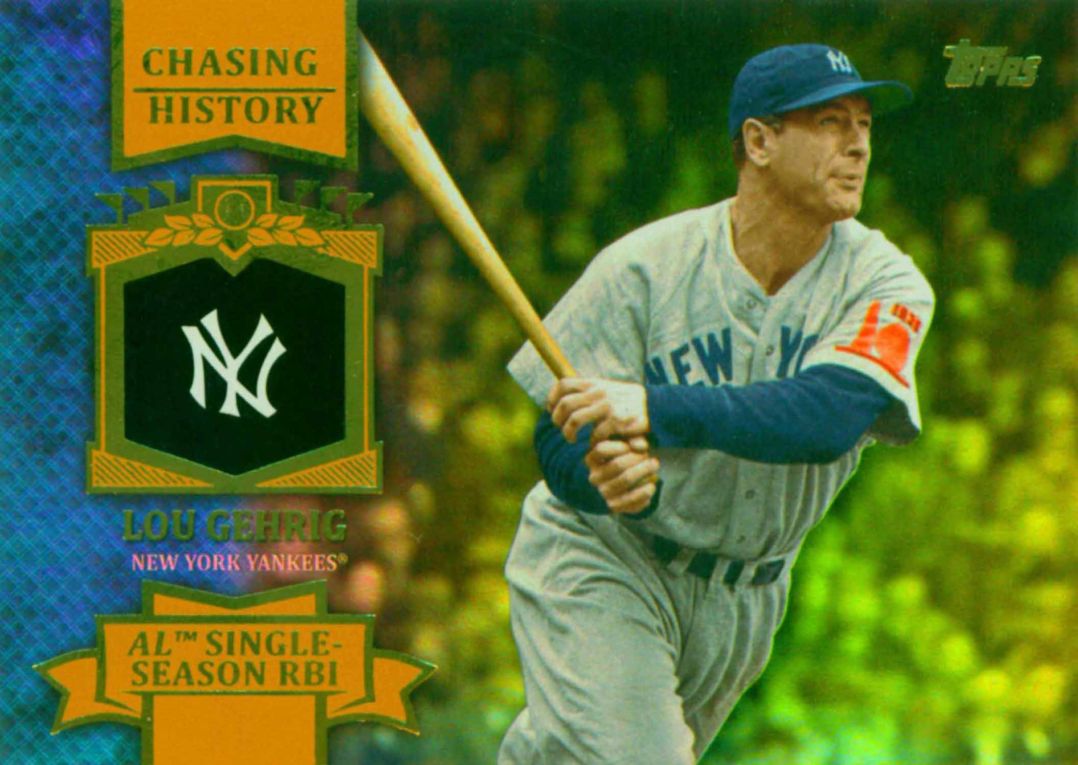 2013 Topps Chasing History Holofoil Gold