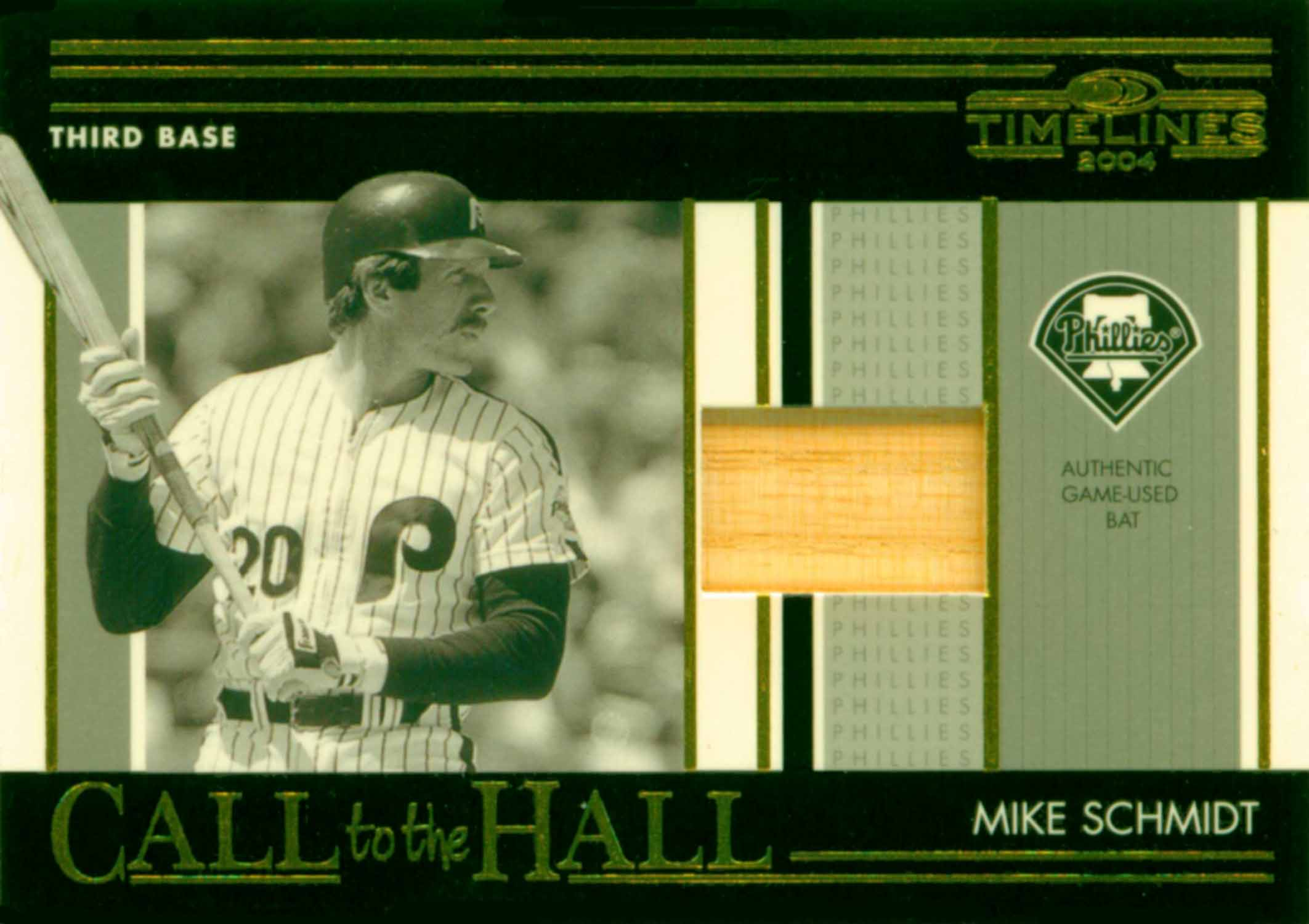 2004 Donruss Timelines Call to the Hall Material Bat