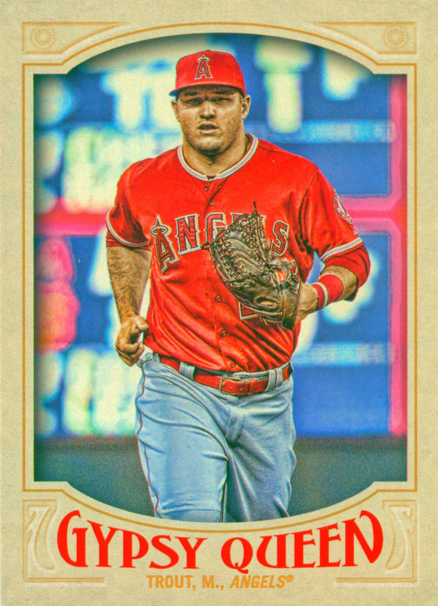 2016 Topps Factory Set Mike Trout Refractors