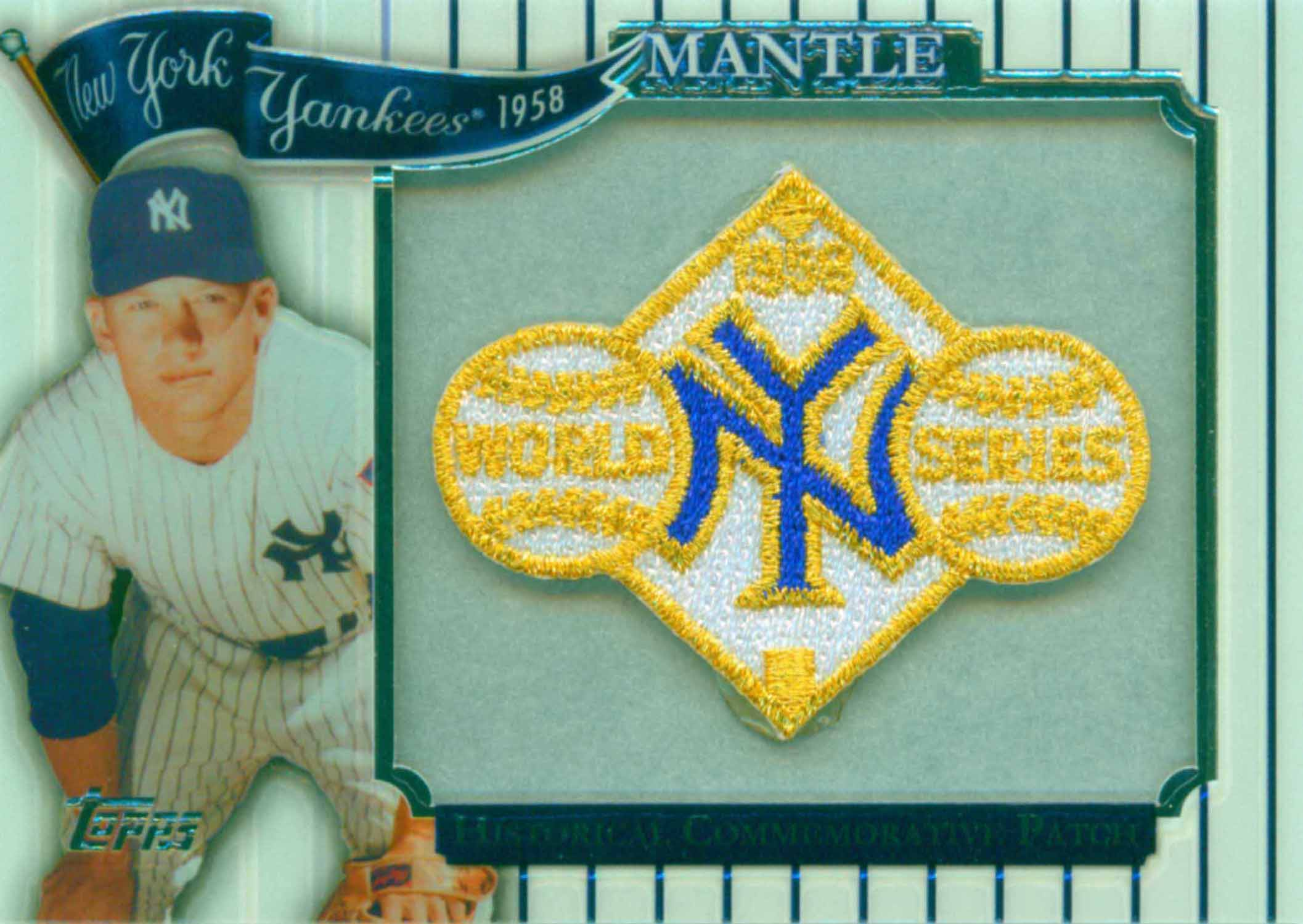 2009 Topps Factory Set Target Mantle World Series Patch
