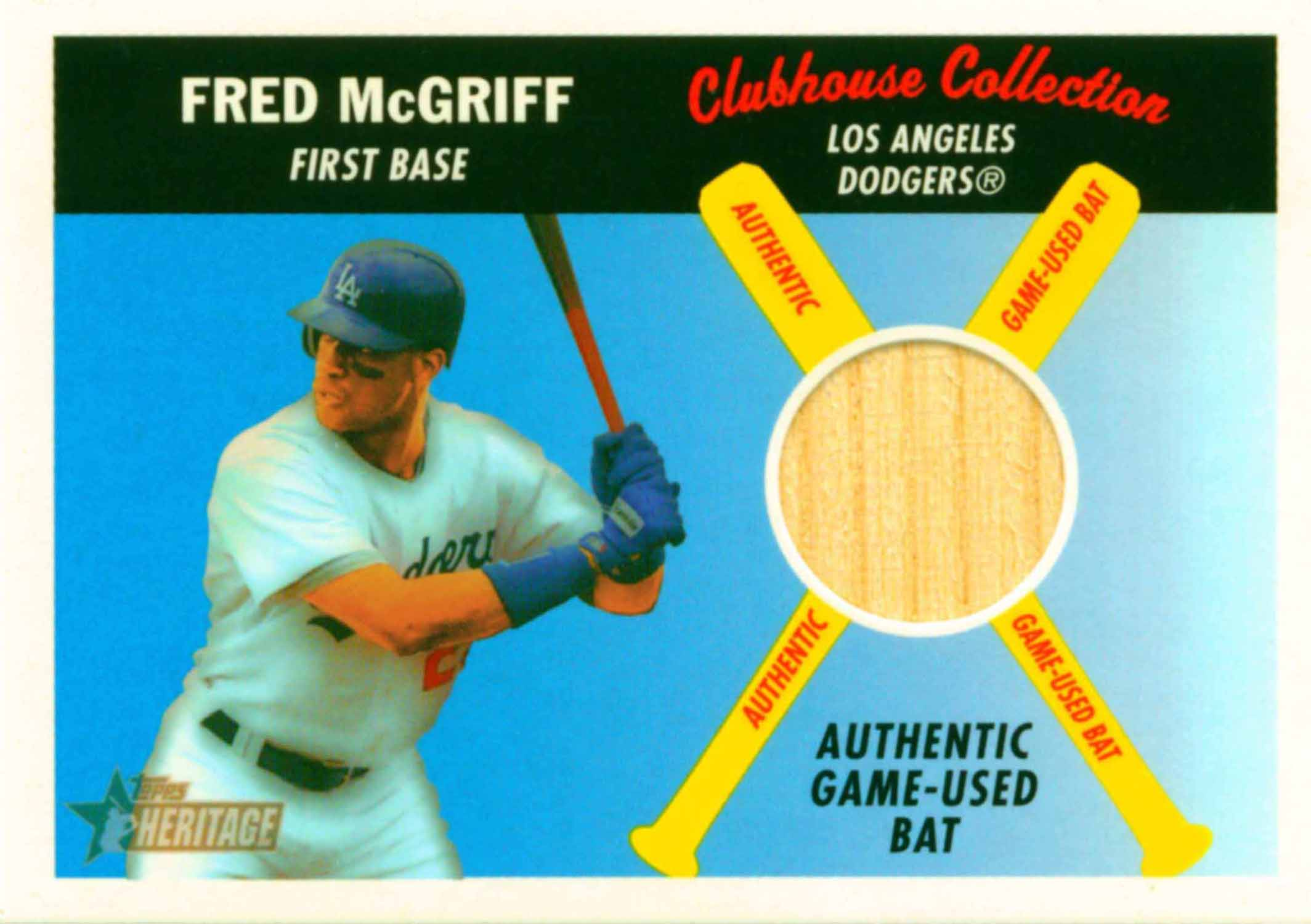 2004 Topps Heritage Clubhouse Collection Relics Bat