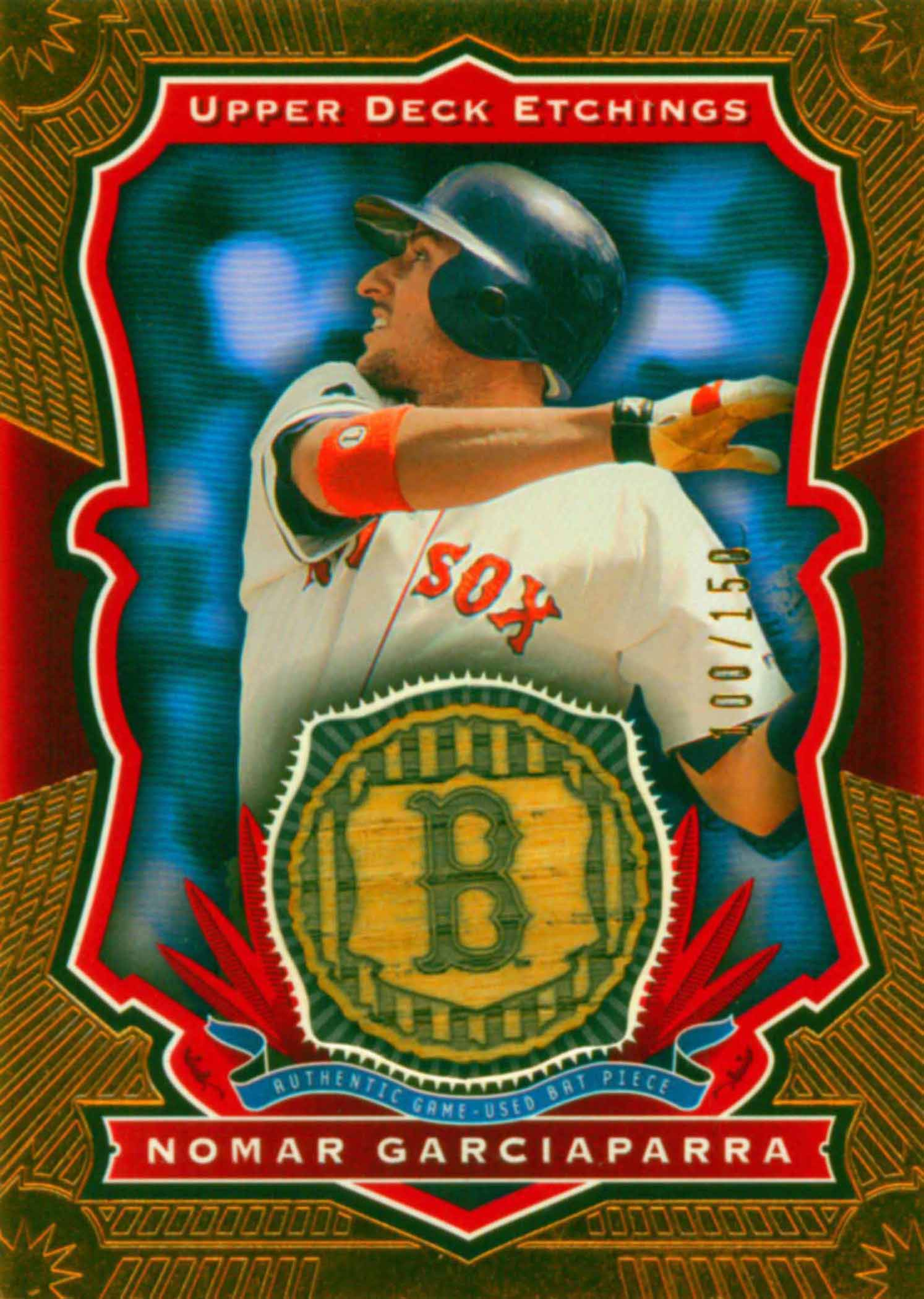 2004 Upper Deck Etchings Game Bat Red