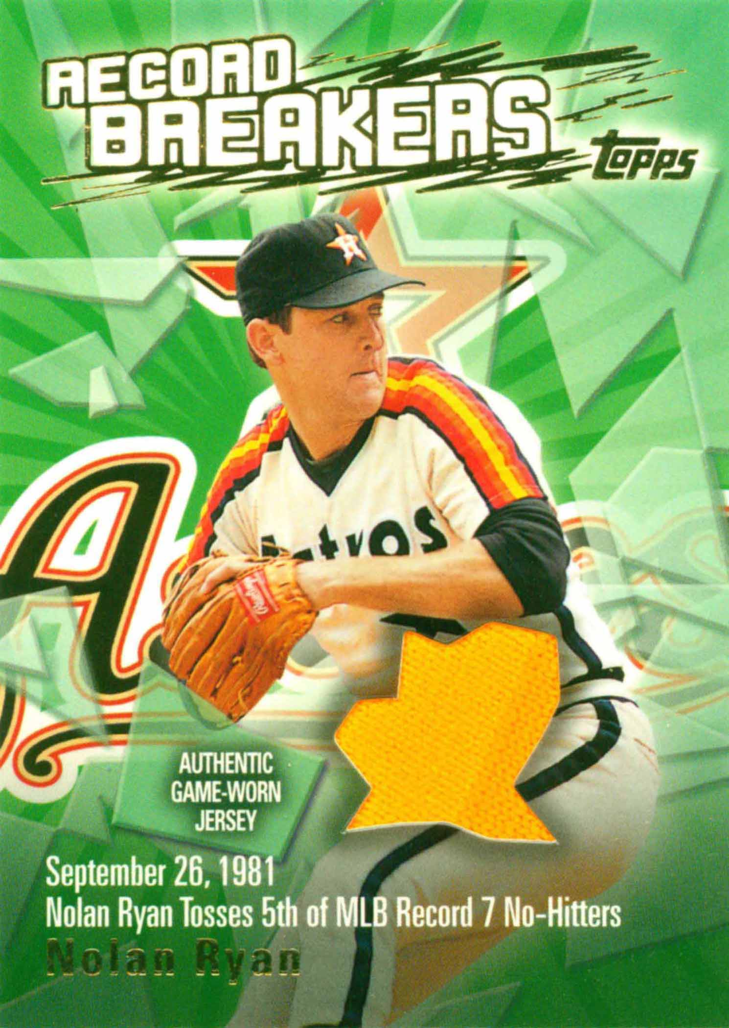 2003 Topps Record Breakers Relics Uniform