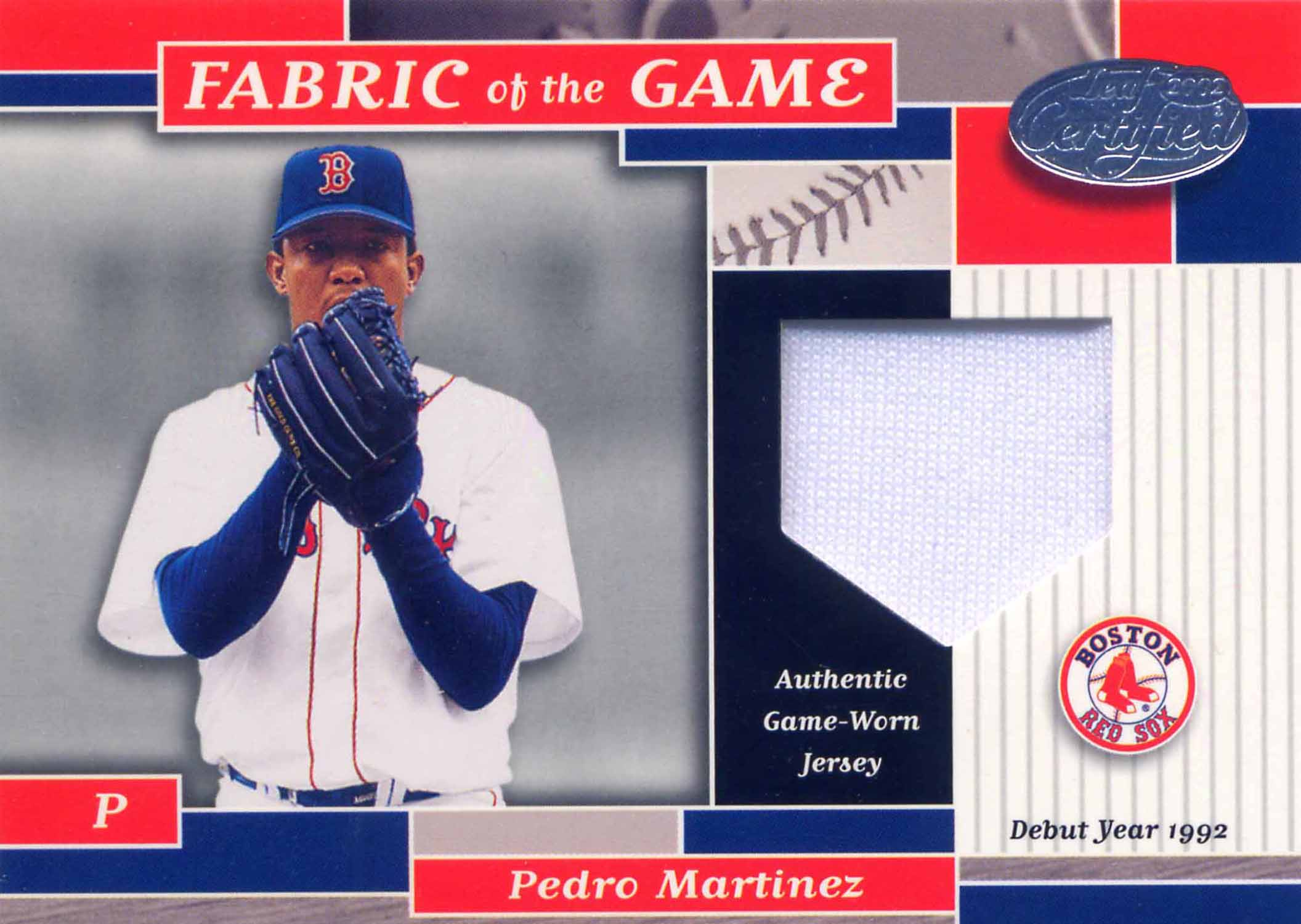2002 Leaf Certified Fabric of the Game