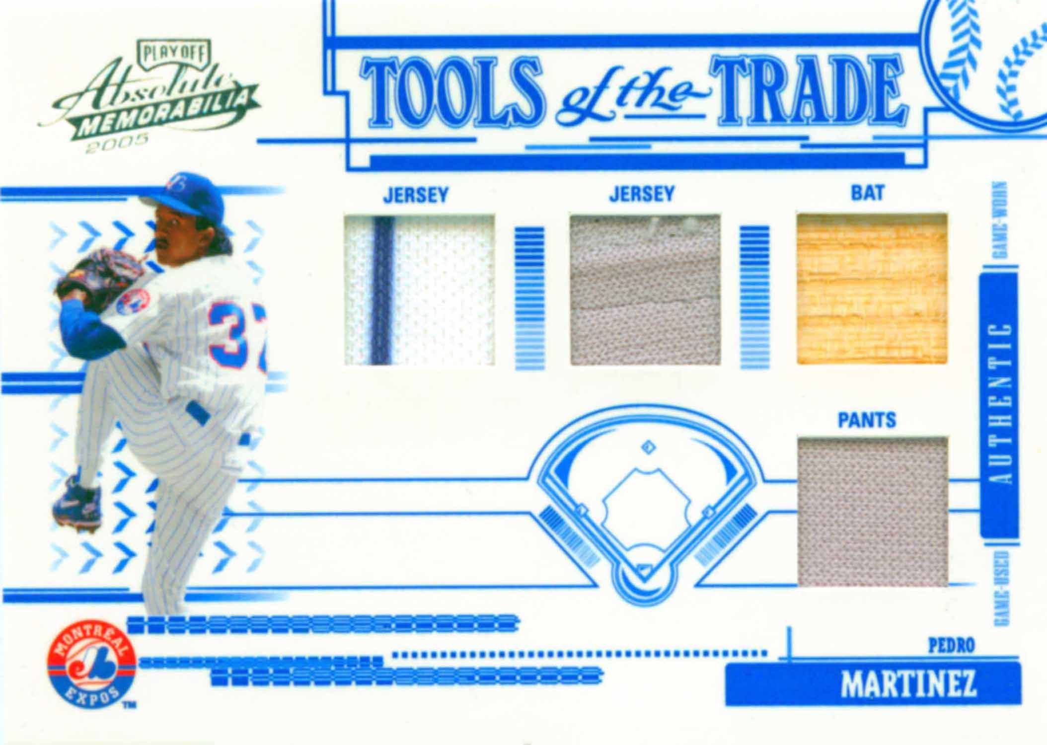 2005 Absolute Memorabilia Tools of the Trade Swatch Quad Bat-Jersey-Jersey-Pants