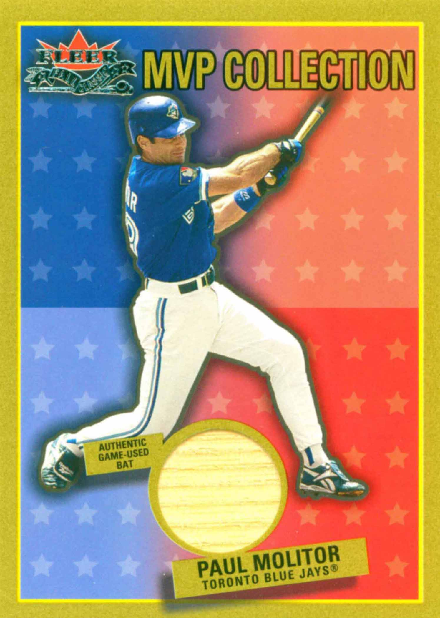 2002 Fleer Fall Classics MVP Collection Game Used Bat