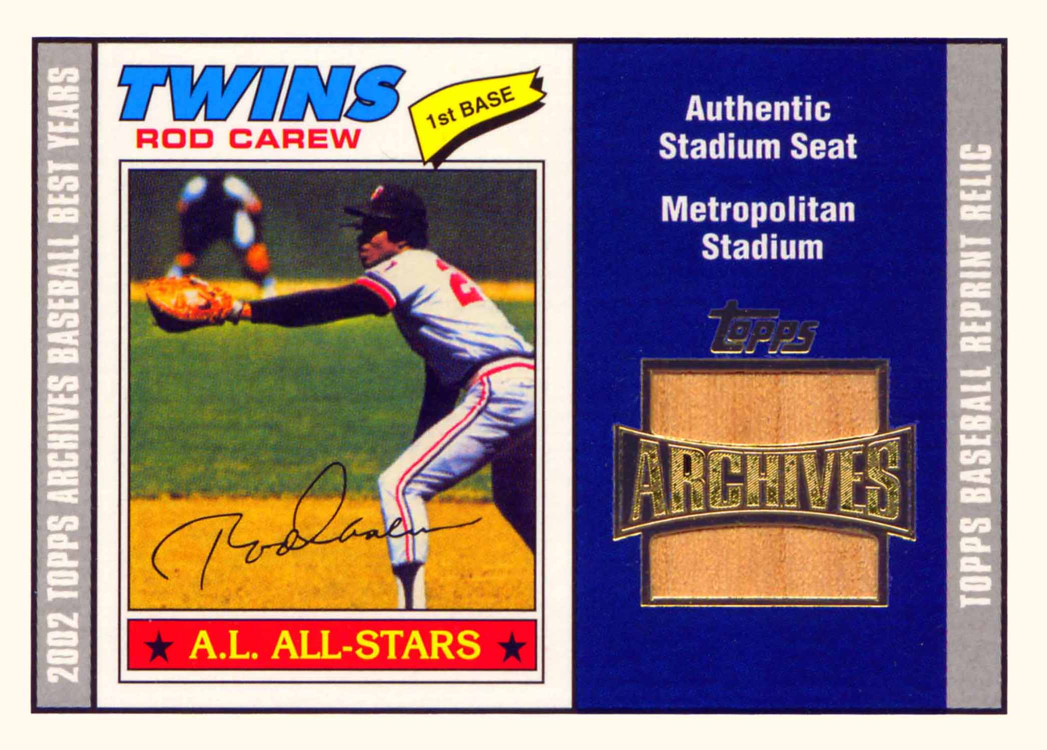 2002 Topps Archives Seat Relics