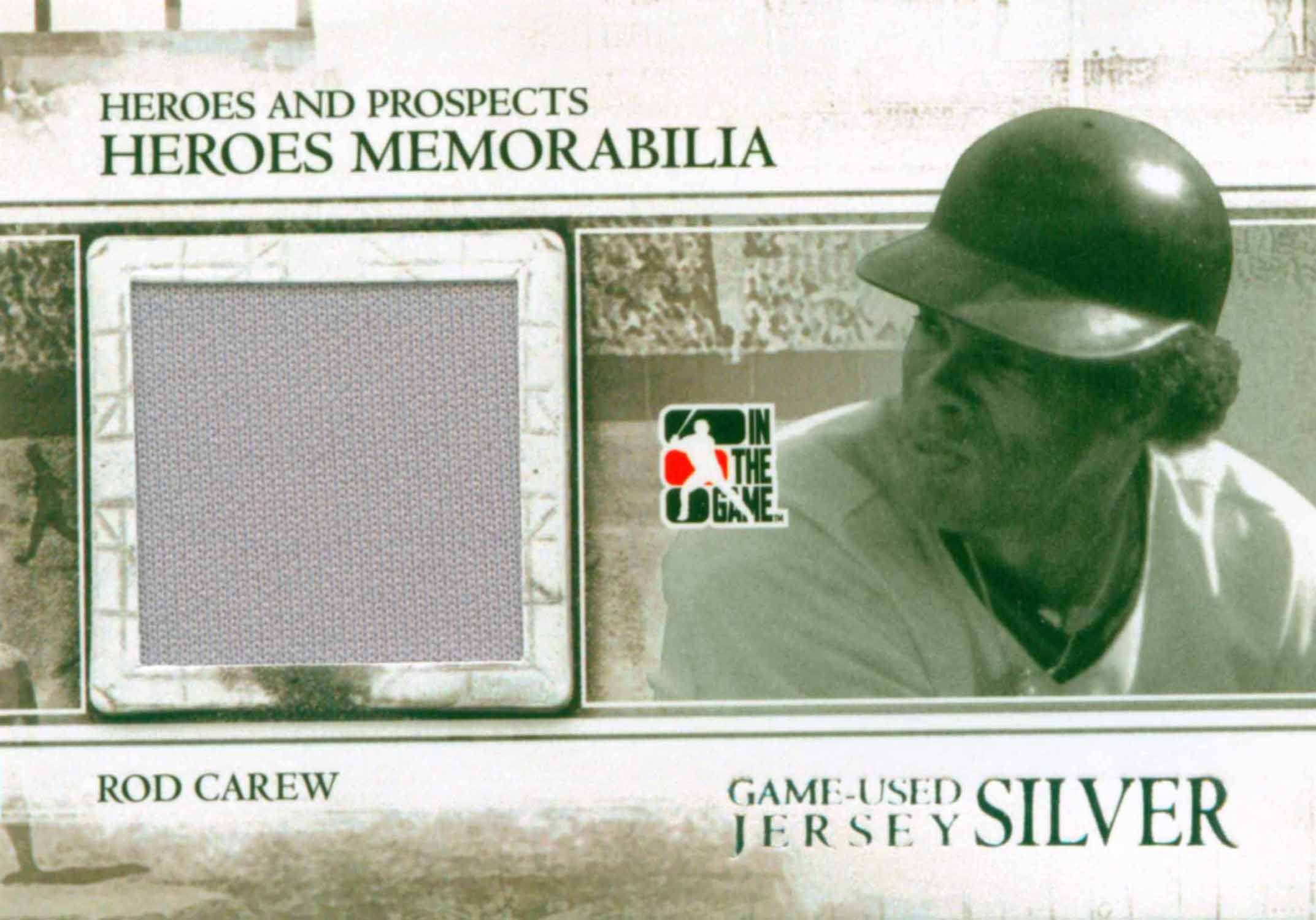 2011 In the Game Heroes and Prospects Heroes Jerseys Silver